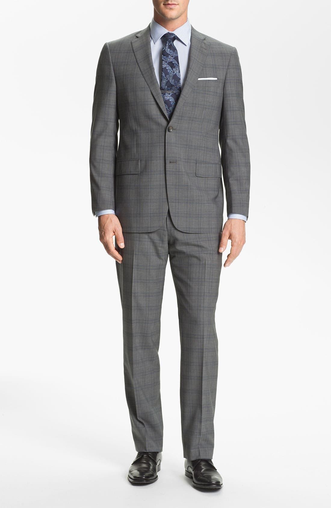 Alternate Image 2  - Hart Schaffner Marx Plaid Wool Suit