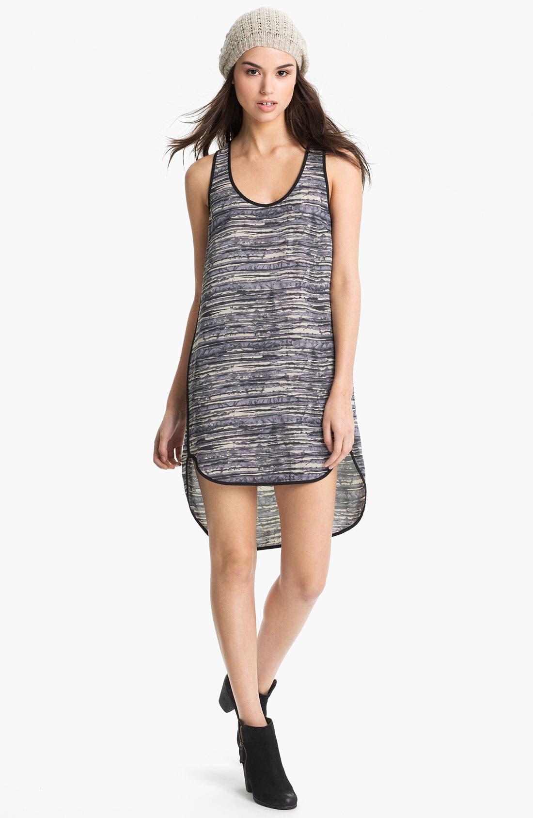 Alternate Image 1 Selected - Lush Print High/Low Tank Dress (Juniors)