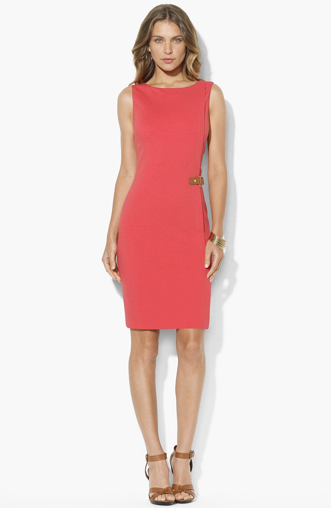Main Image - Lauren Ralph Lauren Ponte Knit Sheath Dress