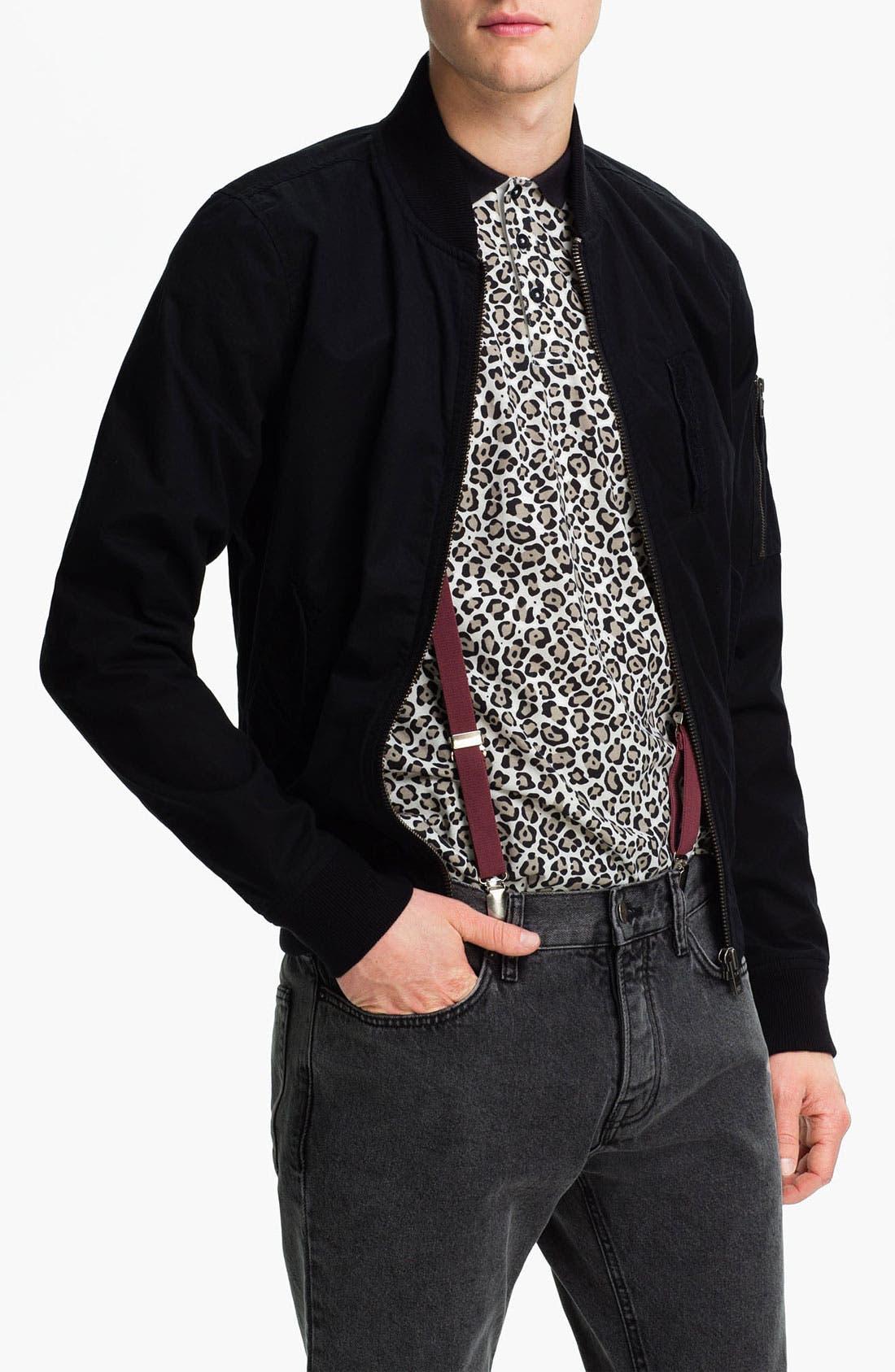 Main Image - Topman Cotton Bomber Jacket