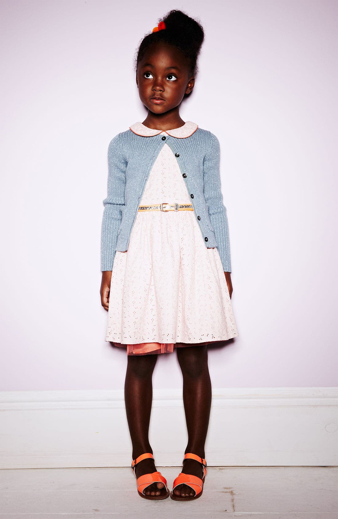 Alternate Image 2  - Mini Boden Eyelet Dress (Little Girls & Big Girls)