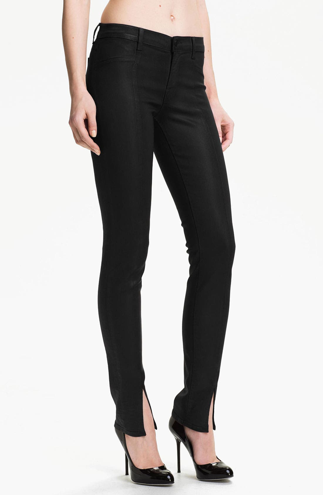 Main Image - J Brand Coated Stretch Skinny Jeans