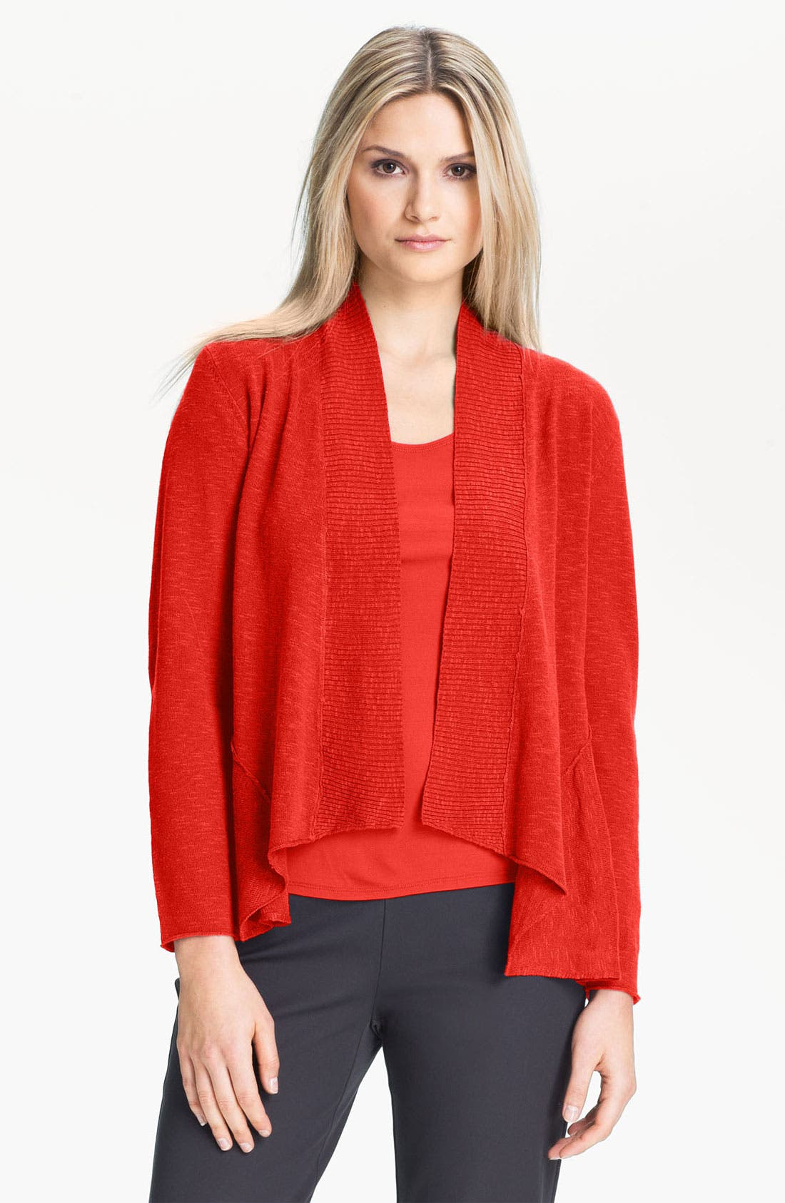 Alternate Image 1 Selected - Eileen Fisher Shaped Cardigan