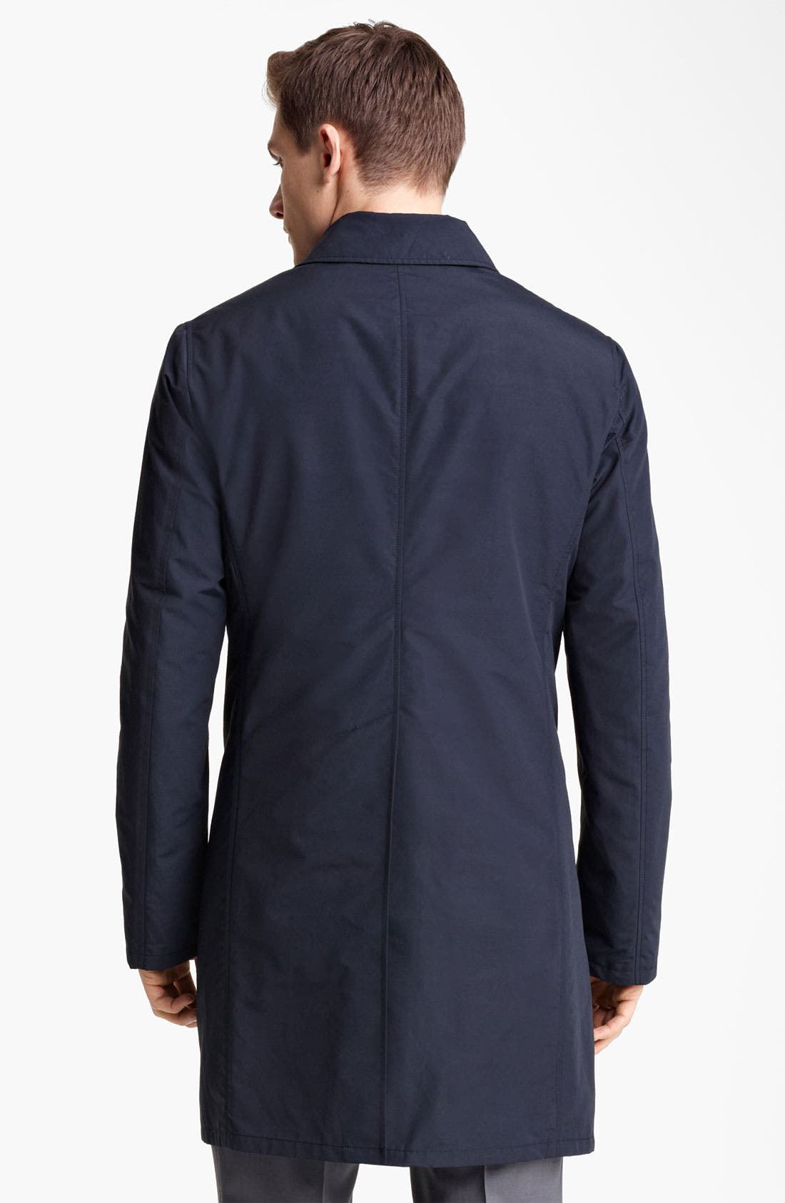 Alternate Image 2  - Z Zegna Cotton Blend Car Coat