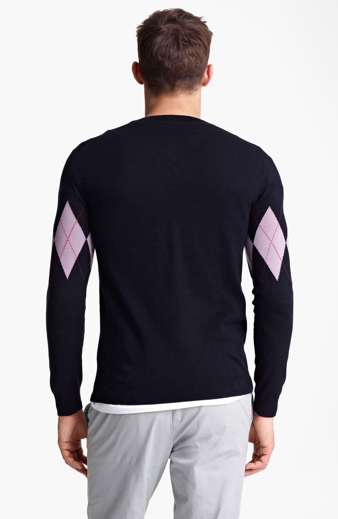 Alternate Image 2  - Pringle of Scotland Argyle V-Neck Sweater