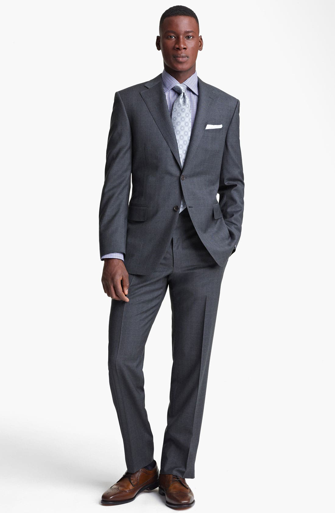 Alternate Image 2  - Canali Plaid Wool Suit