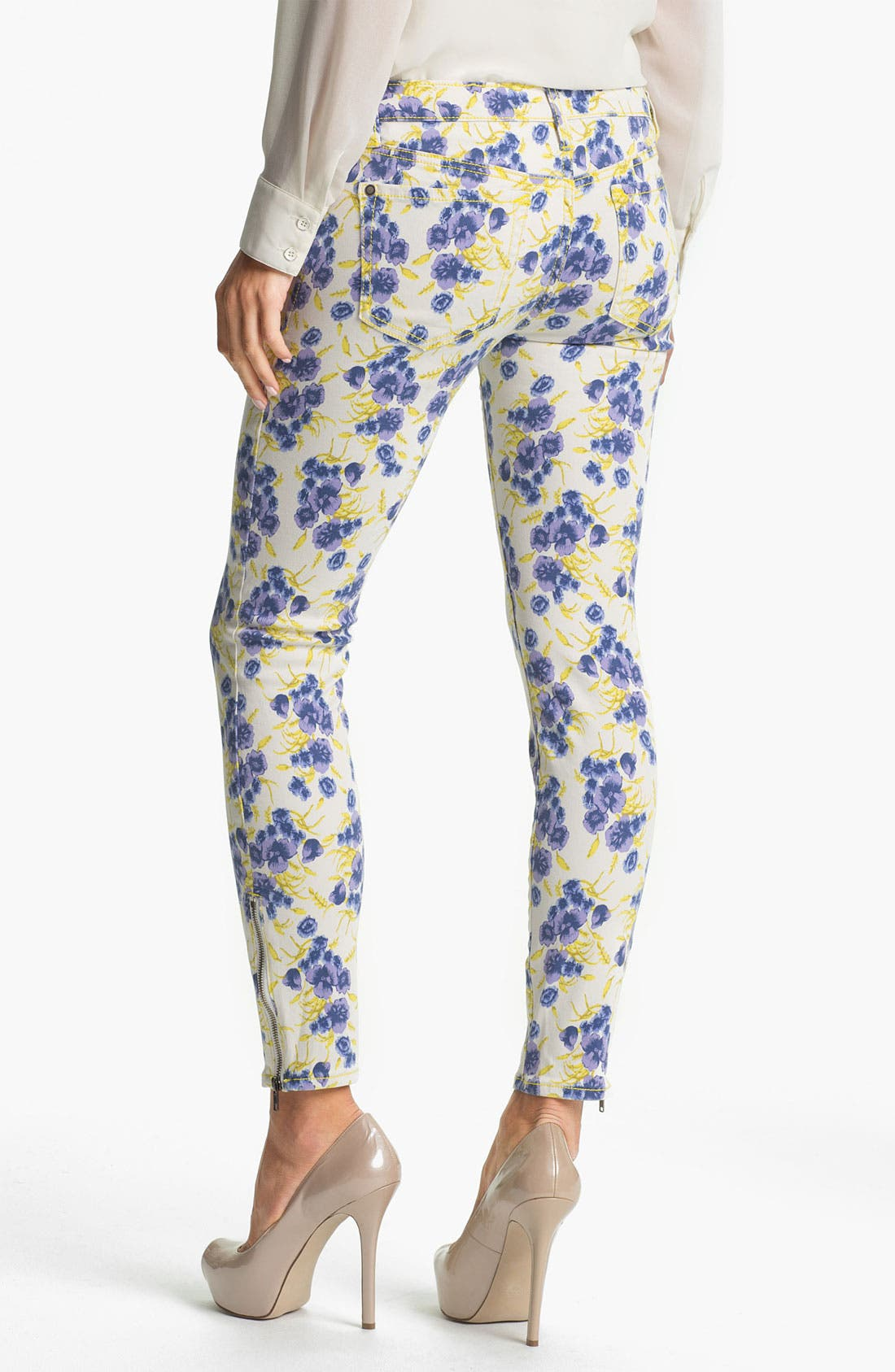 Alternate Image 2  - Jessica Simpson 'Kiss Me' Print Zip Ankle Skinny Jeans (Online Exclusive)