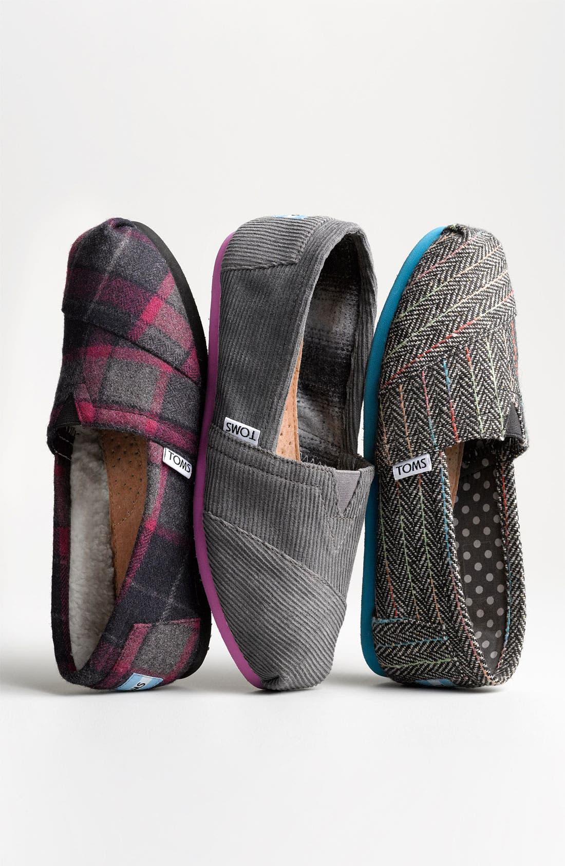 Alternate Image 5  - TOMS 'Classic - Plaid' Wool Slip-On
