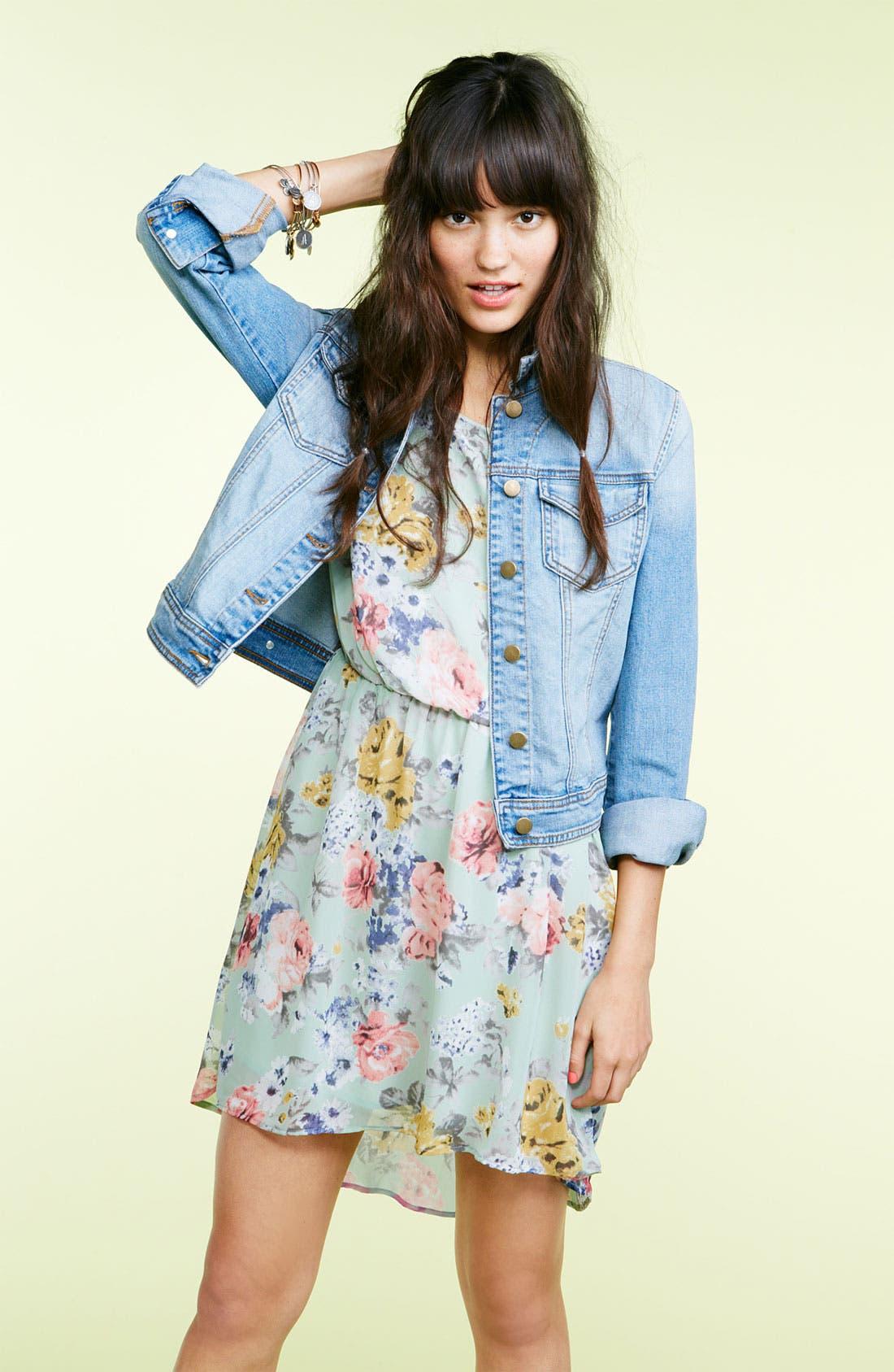 Alternate Image 5  - Lush 'Dakota' Chiffon Dress (Juniors)