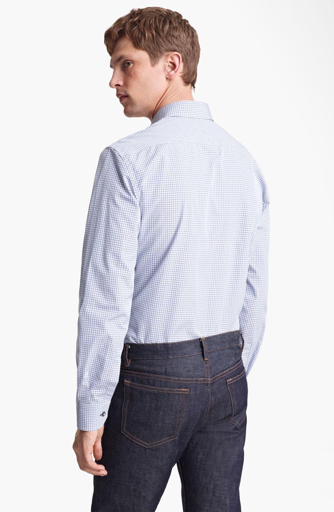 Alternate Image 2  - Paul Smith London Micro Gingham Dress Shirt