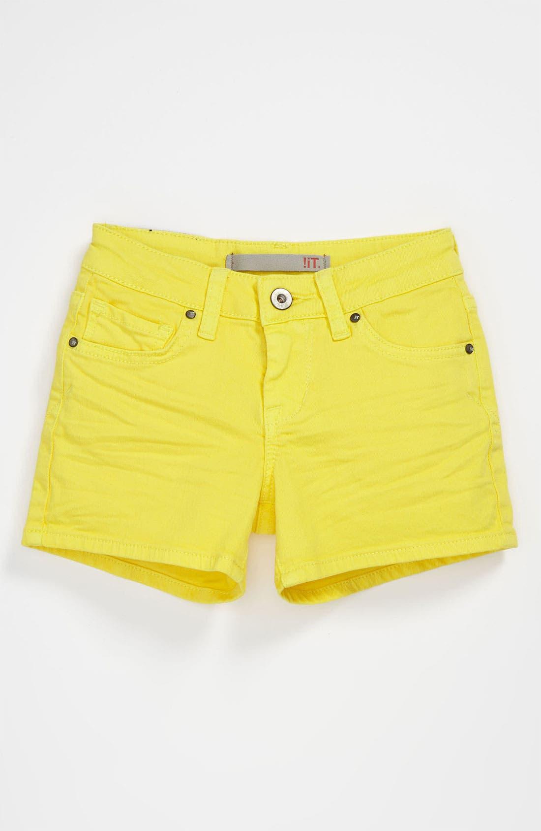 Alternate Image 2  - !iT JEANS Five Pocket Shorts (Big Girls)