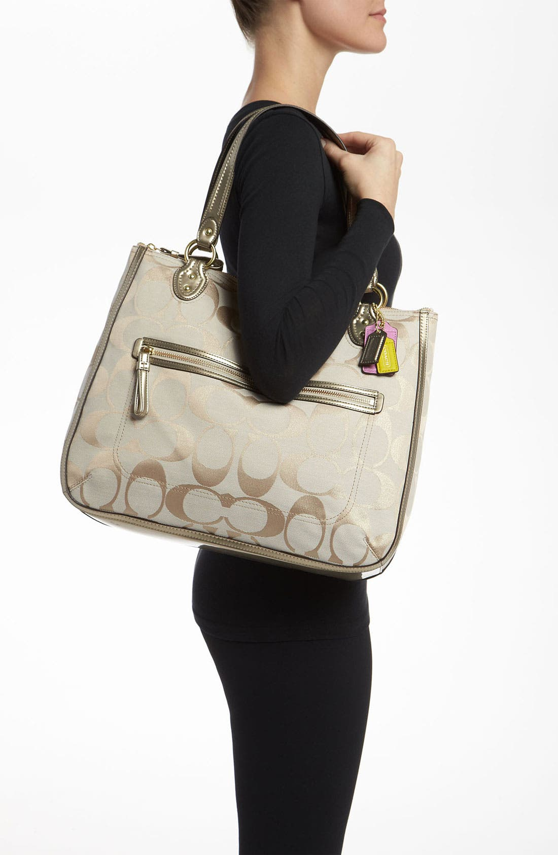 Alternate Image 2  - COACH 'Poppy Signature Metallic - Ella' Tote
