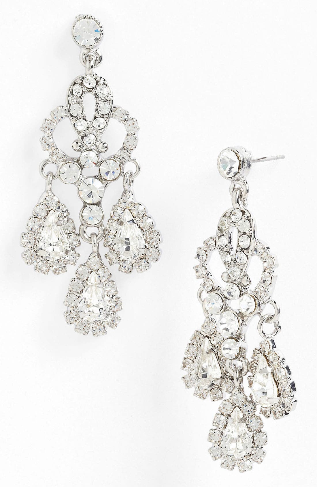 Alternate Image 1 Selected - Nina 'Brooklyn' Crystal Teardrop Chandelier Earrings