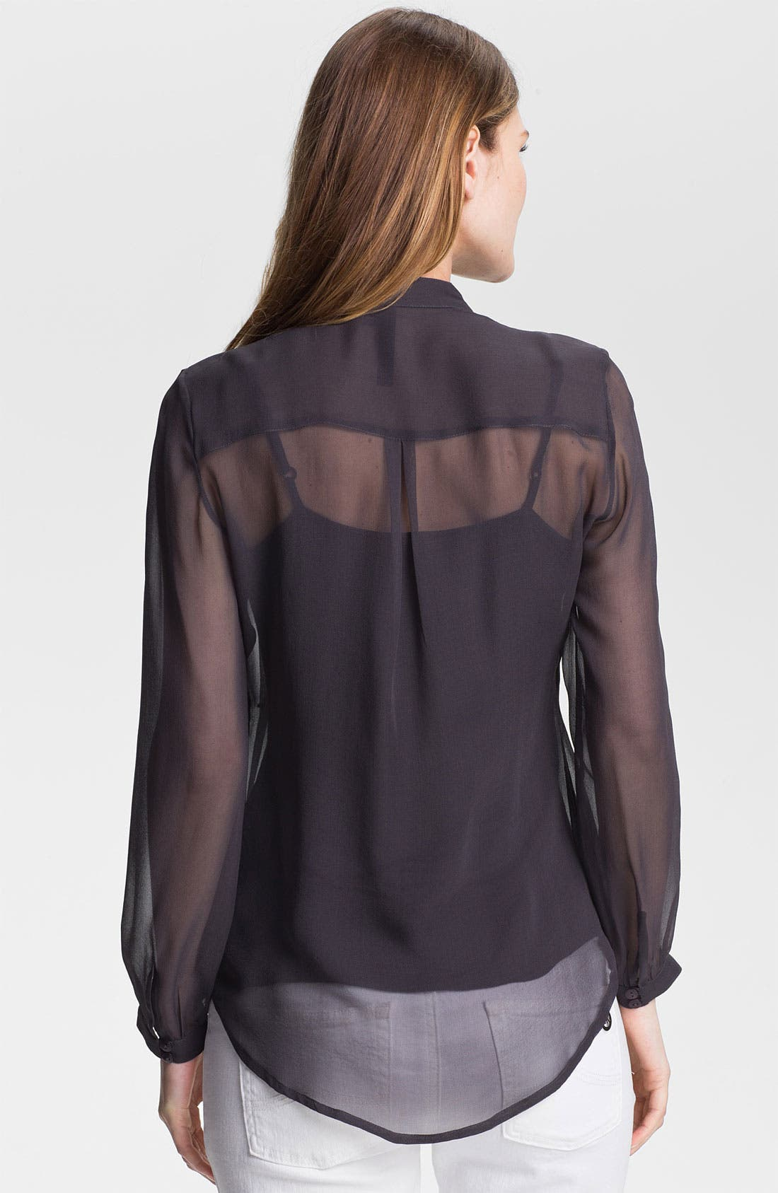 Alternate Image 2  - Kay Celine Embellished Silk Chiffon Blouse with Tank