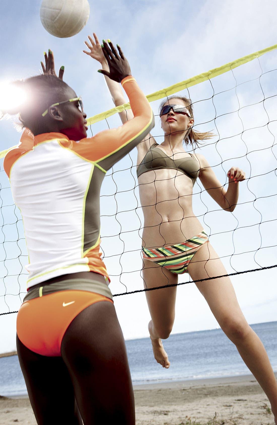 Main Image - Nike Rashguard & Bikini Bottoms