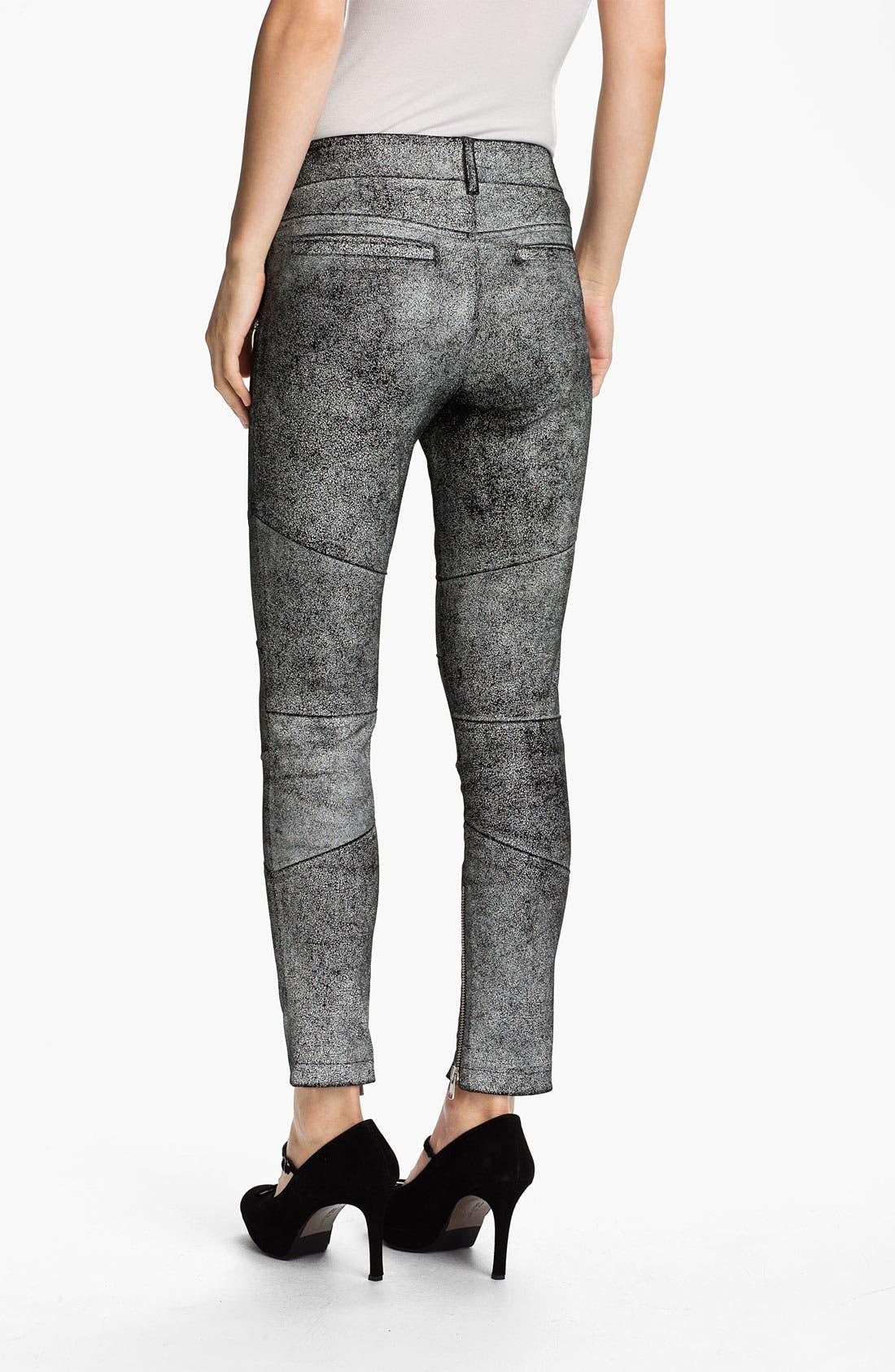 Alternate Image 2  - Skaist-Taylor Cracked Leather Moto Pants