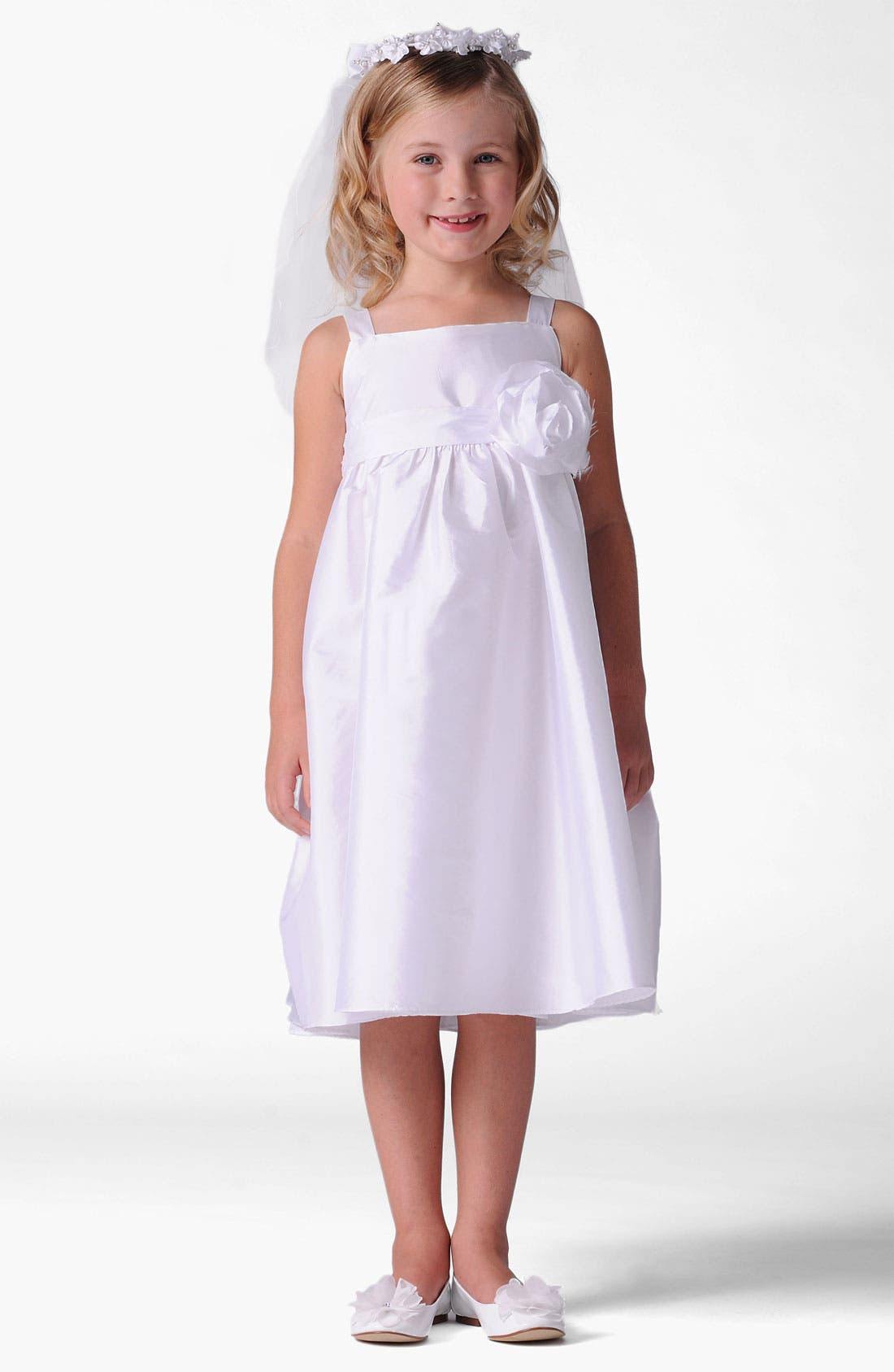 Main Image - Us Angels Empire Waist Dress (Little Girls & Big Girls)