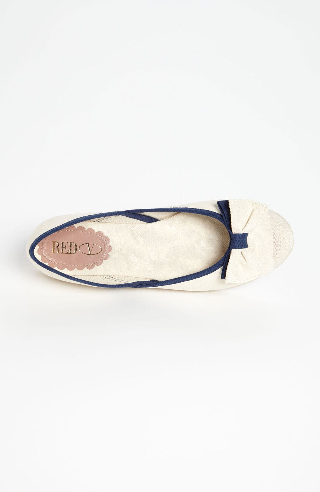 Alternate Image 3  - RED Valentino Canvas Flat