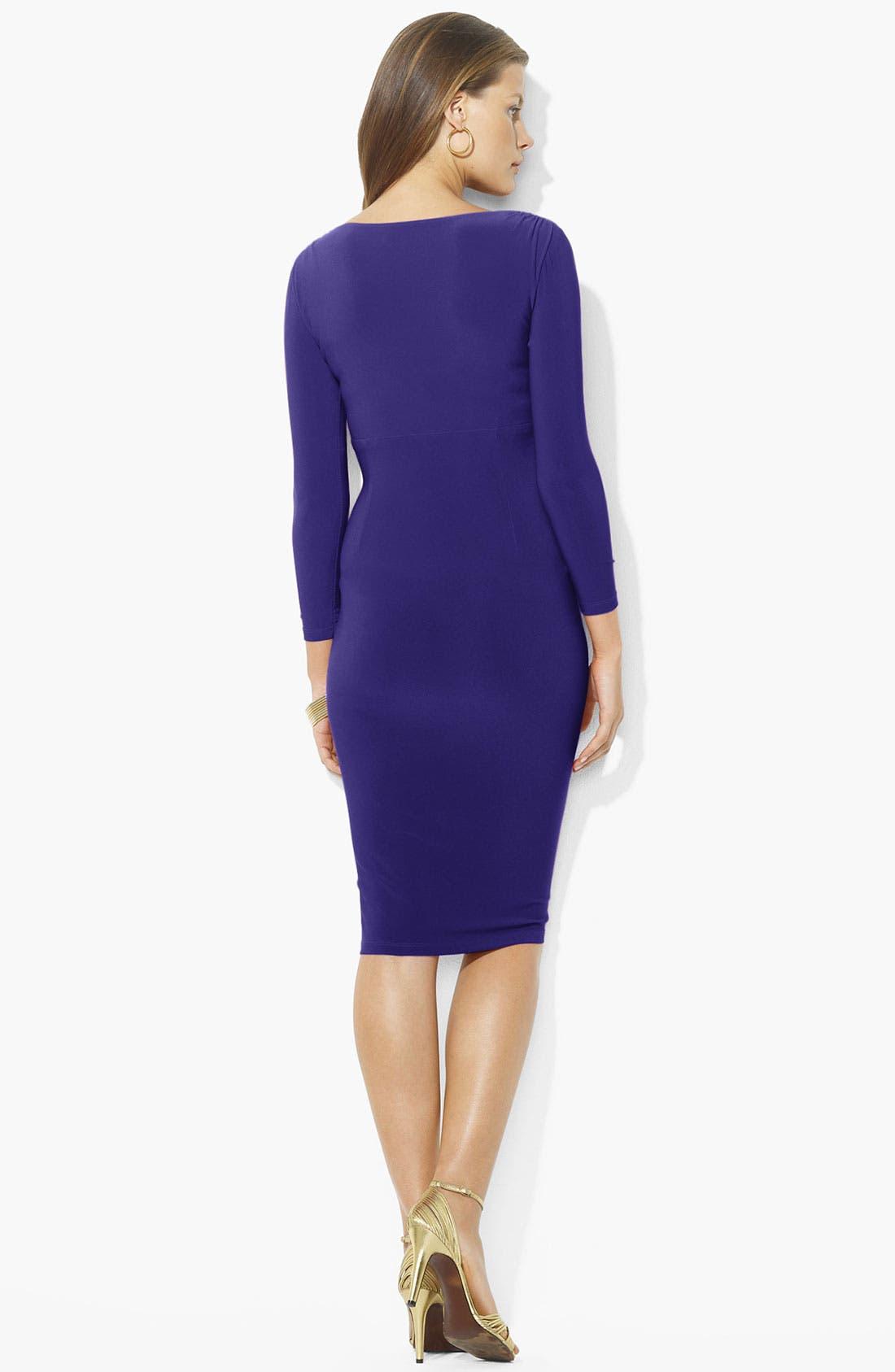 Alternate Image 2  - Lauren Ralph Lauren Surplice Jersey Dress