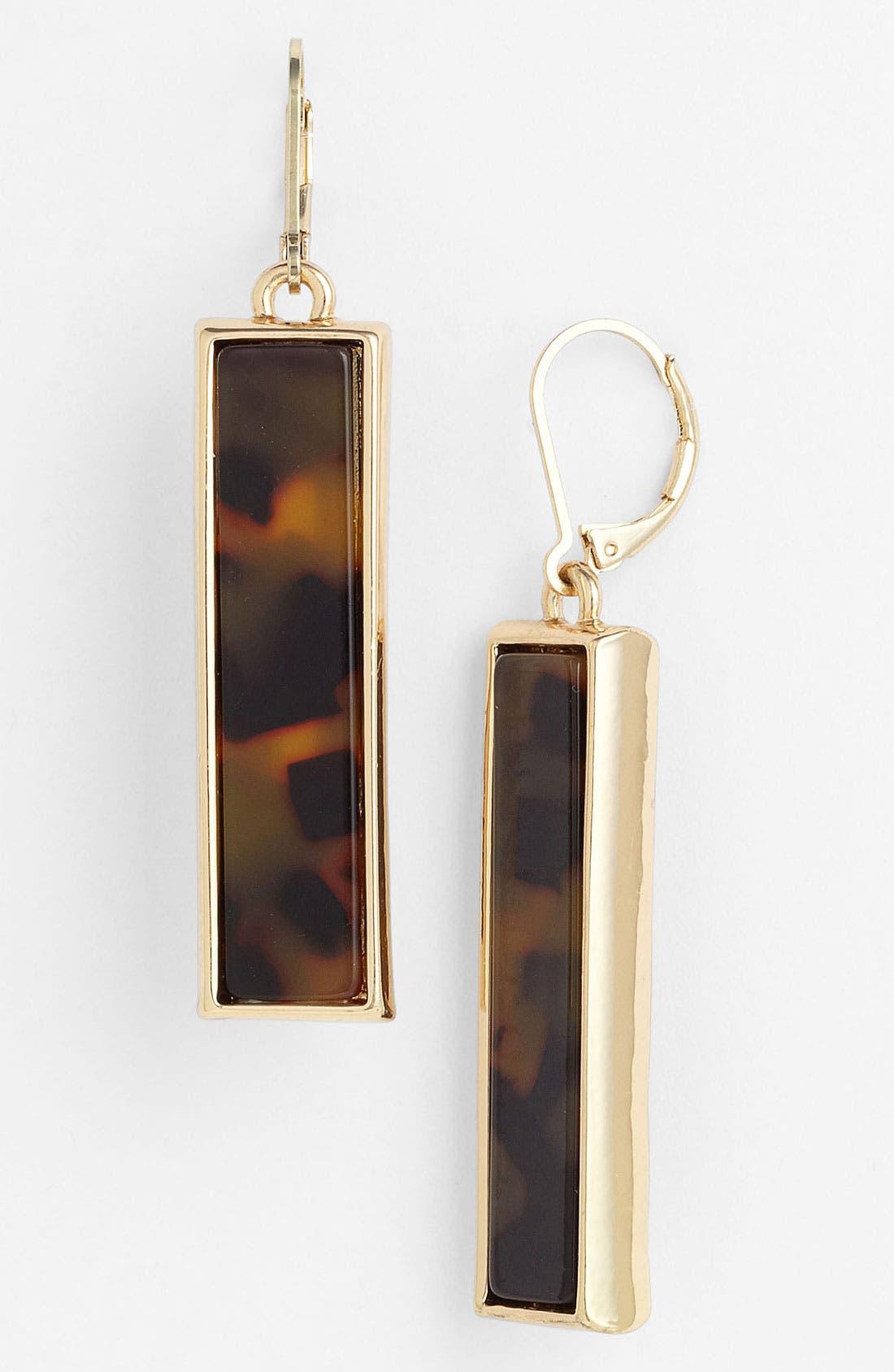 Alternate Image 1 Selected - Anne Klein 'Ridley' Rectangular Earrings