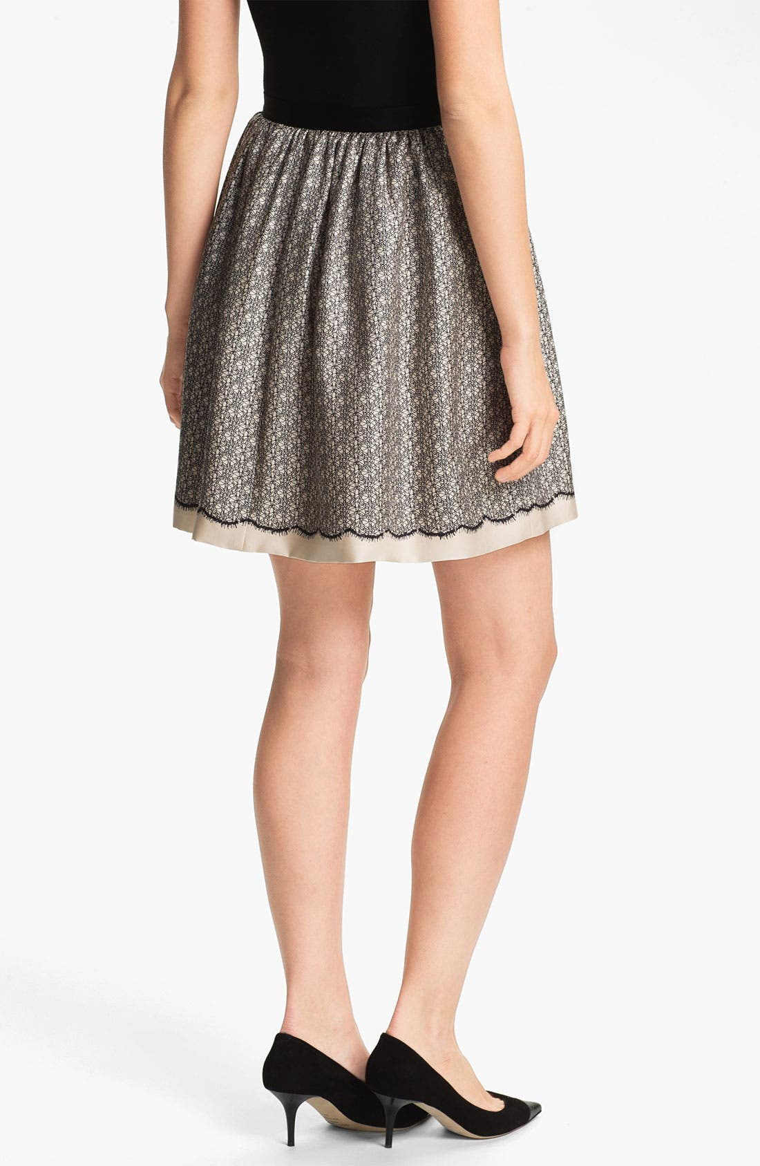Alternate Image 2  - Miss Wu Lace Print Silk Twill Skirt (Nordstrom Exclusive)