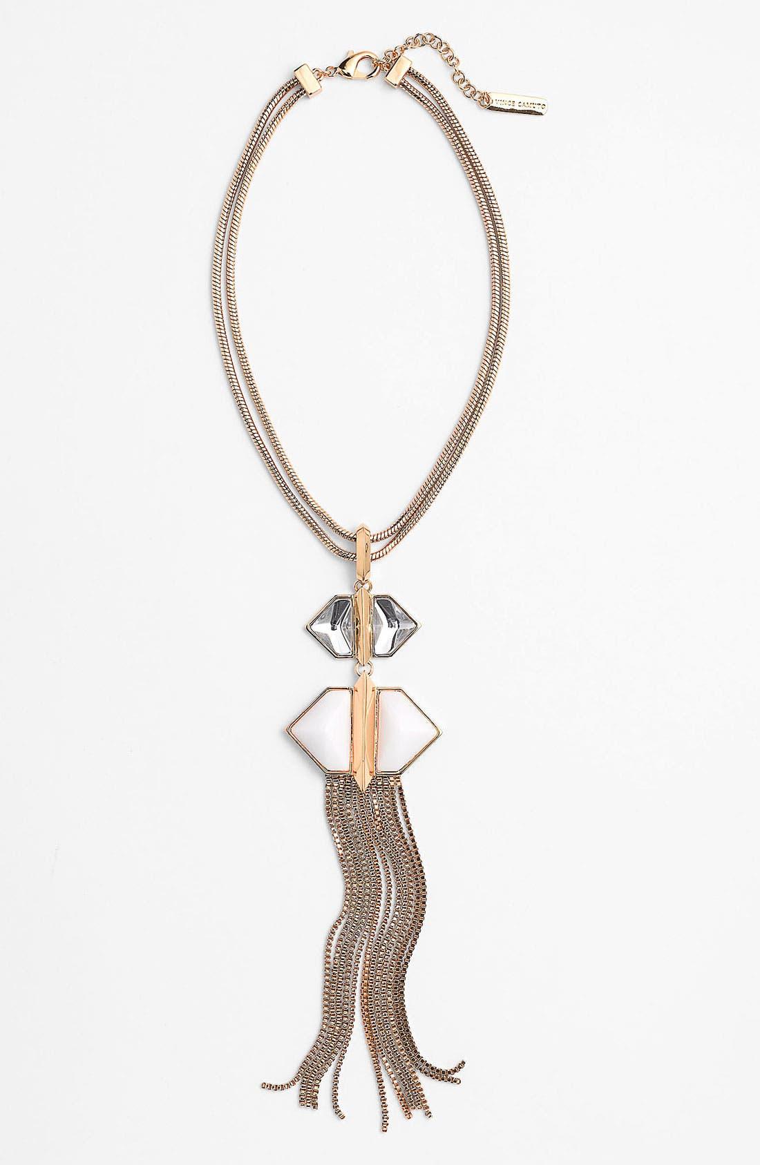 Main Image - Vince Camuto 'Hidden Gems' Tassel Pendant Necklace