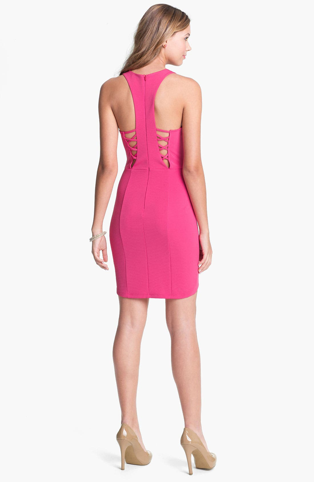 Alternate Image 1 Selected - Lush Racerback Tank Dress (Juniors)