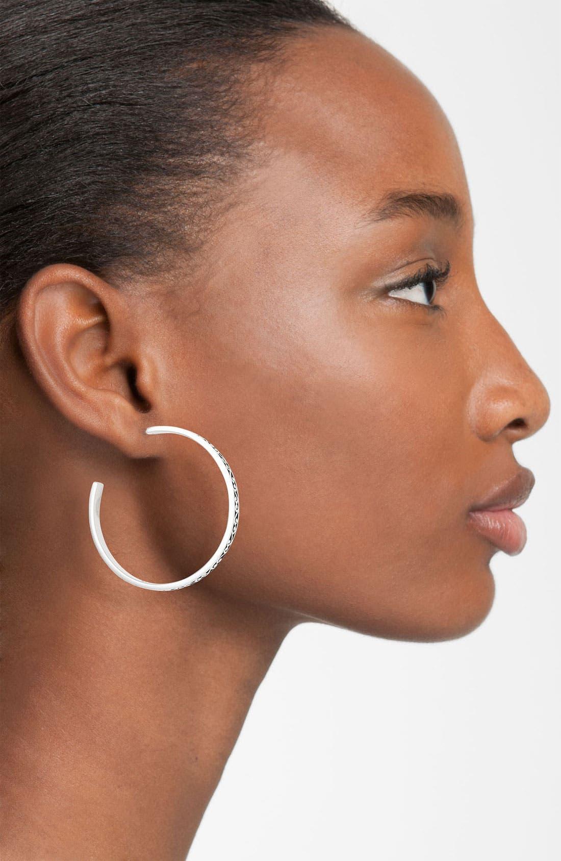 Alternate Image 2  - Lois Hill 'Classics' Thin Hoop Earrings
