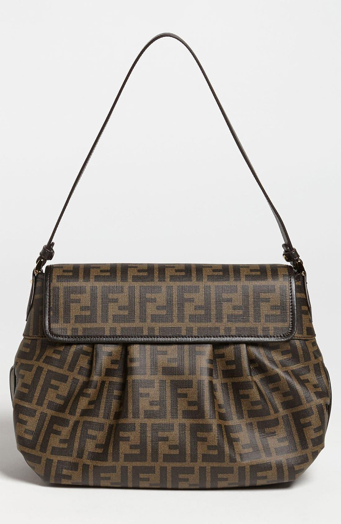 Alternate Image 4  - Fendi 'Tomorrow Zucca - Small' Shoulder Bag