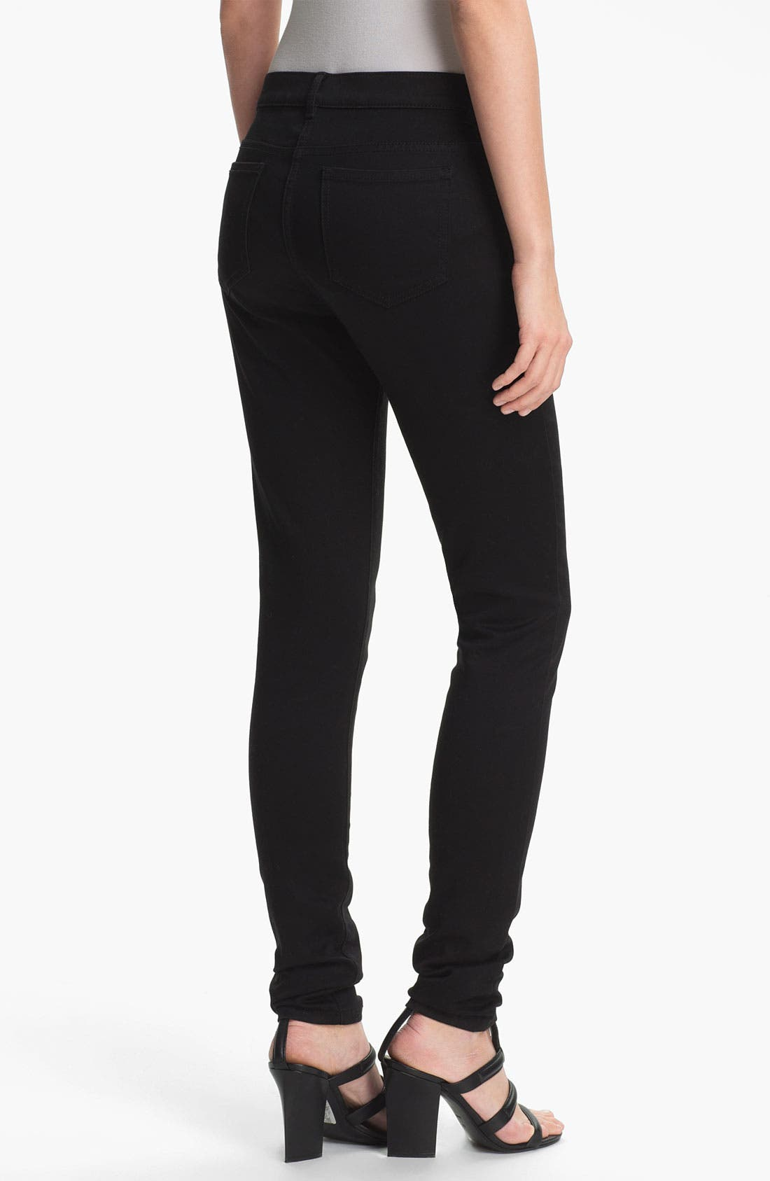 Alternate Image 2  - T by Alexander Wang High Waist Stretch Sateen Jeans