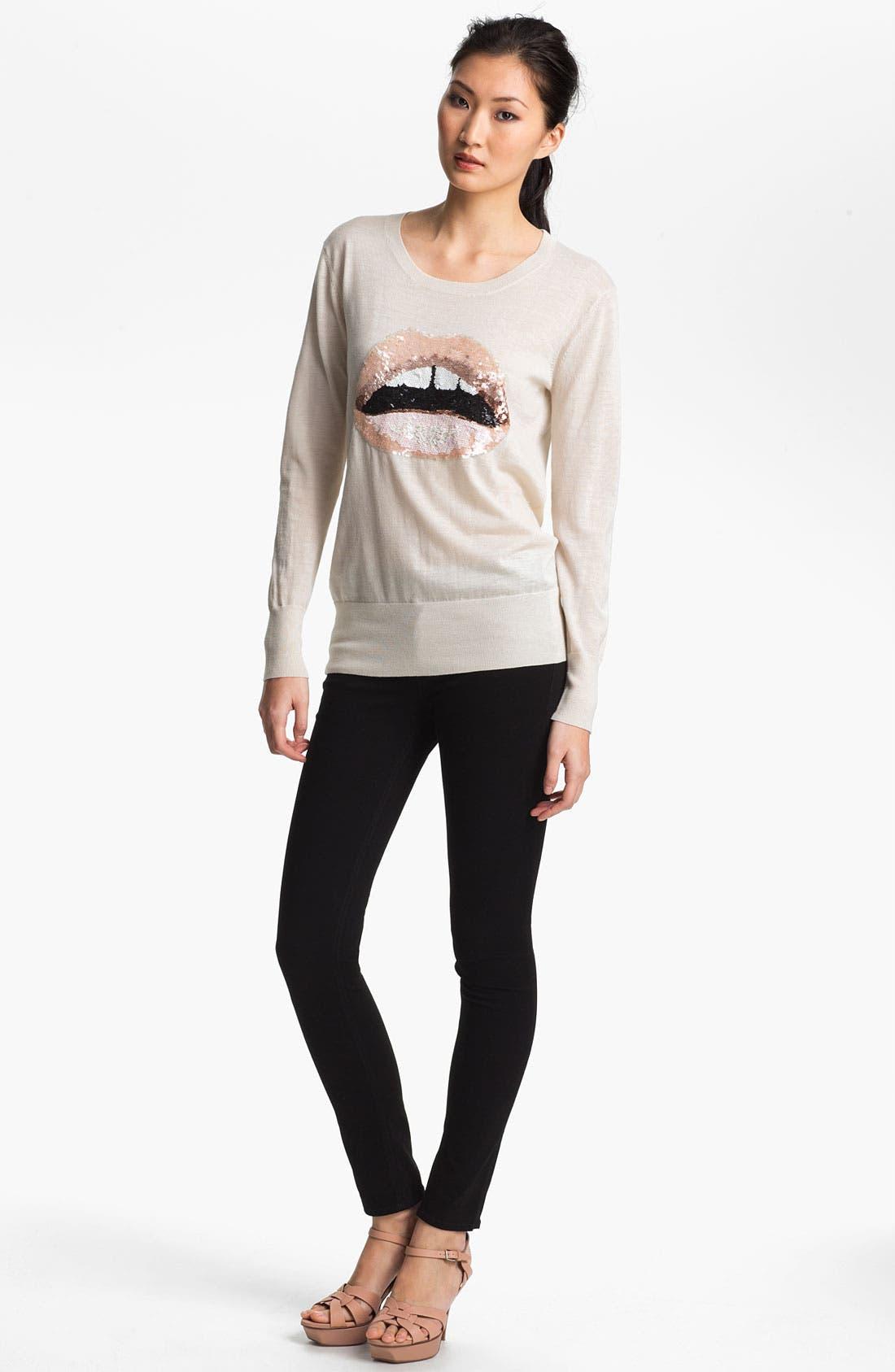 Alternate Image 2  - Markus Lupfer Sequin Lip Sweater