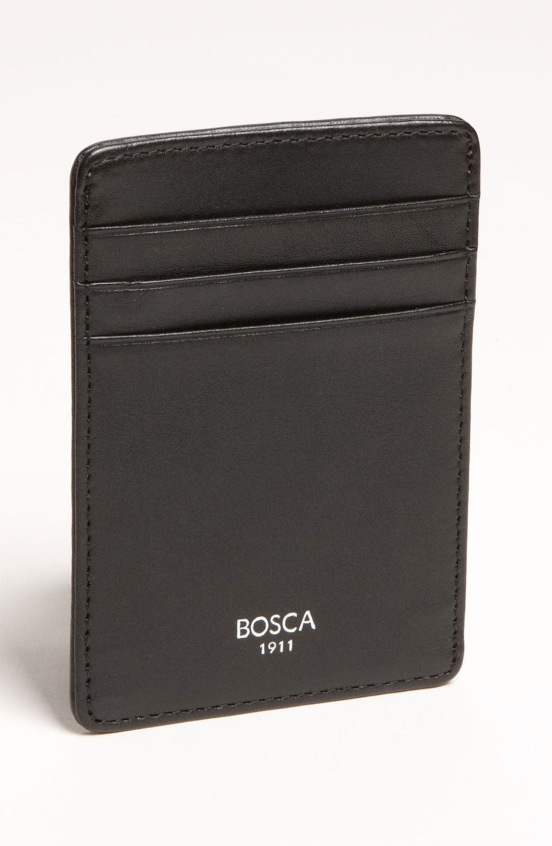 Alternate Image 1 Selected - Bosca Leather Money Clip Card Case