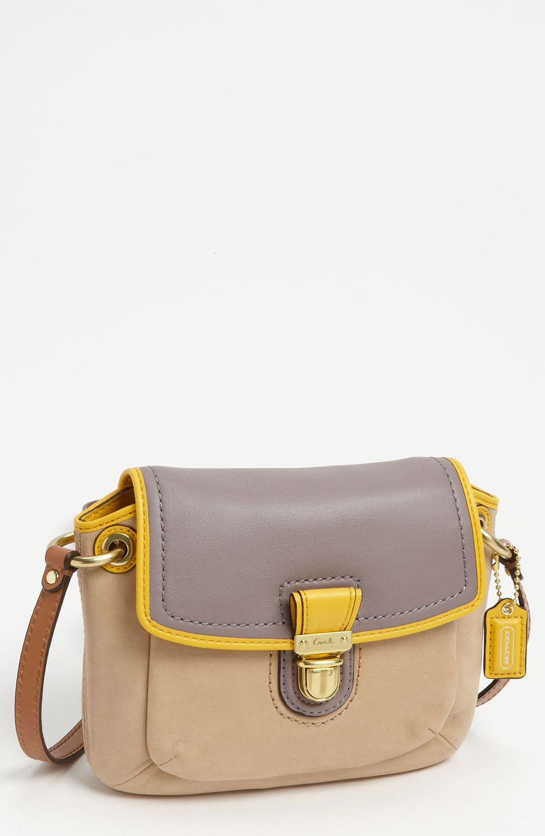 Main Image - COACH 'Poppy - Colorblock' Leather Crossbody Bag