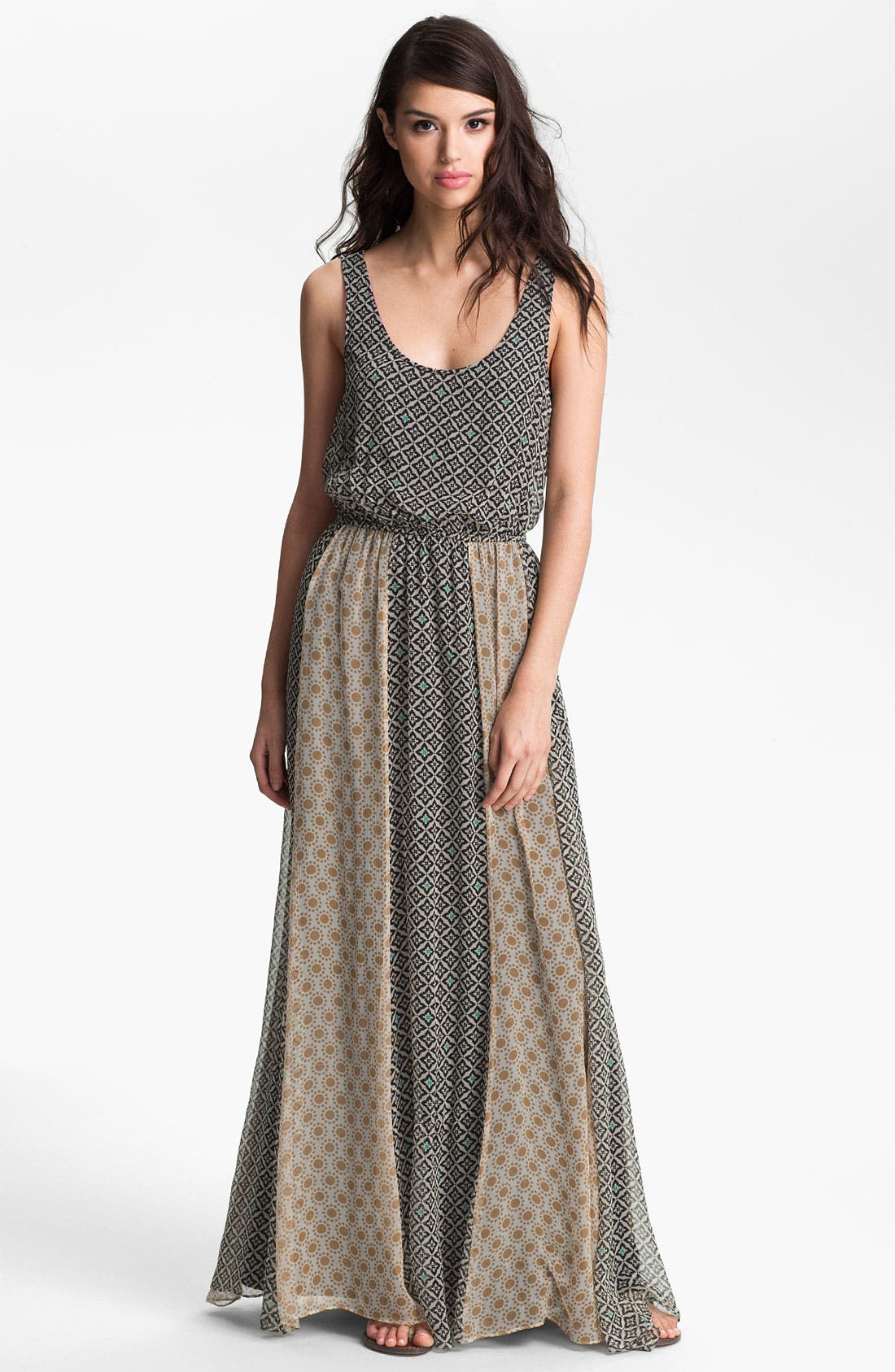 Alternate Image 1 Selected - Ella Moss 'Sun Tile' Print Maxi Dress