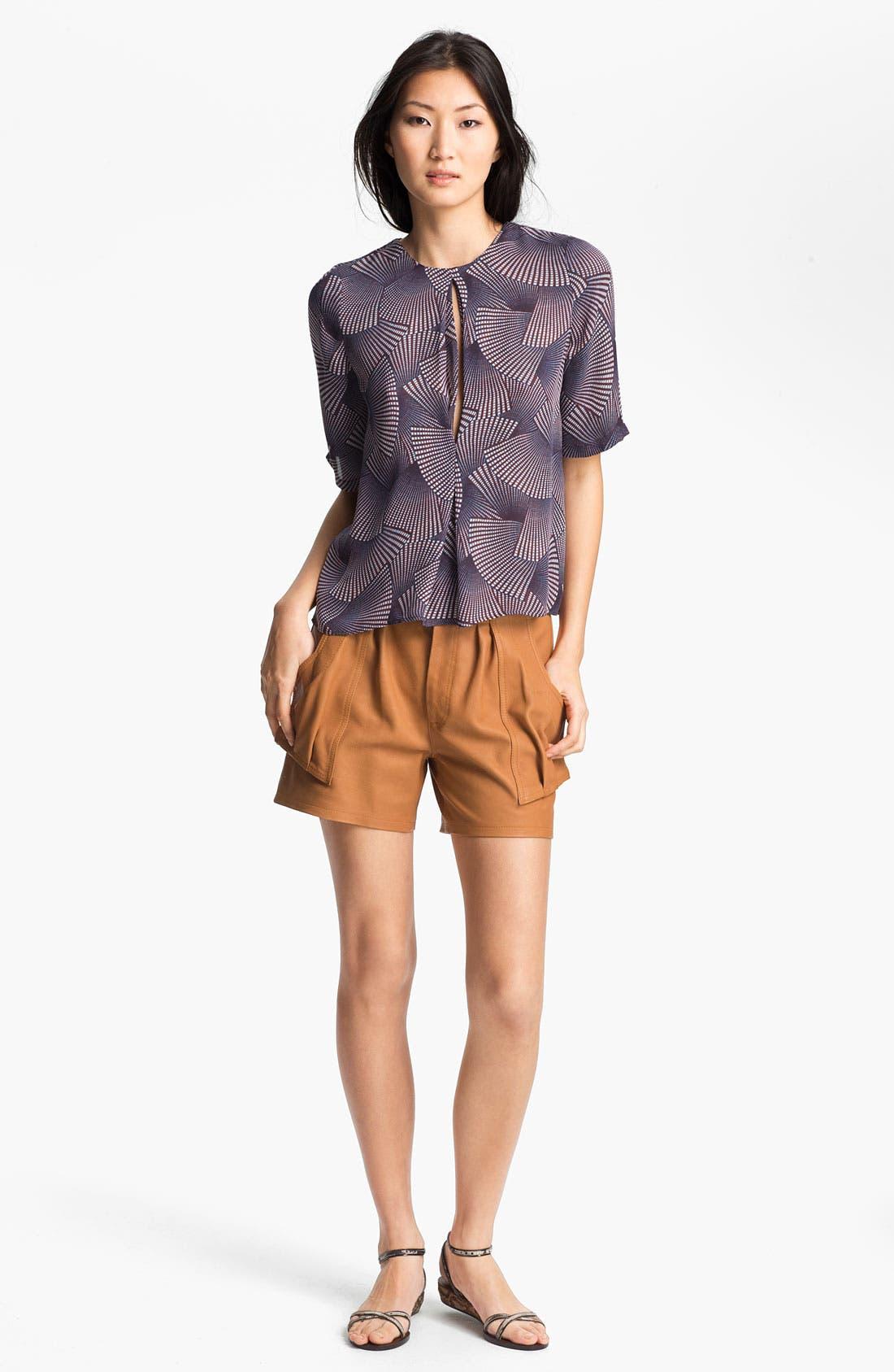 Alternate Image 3  - A.L.C. 'Cash' Leather Shorts