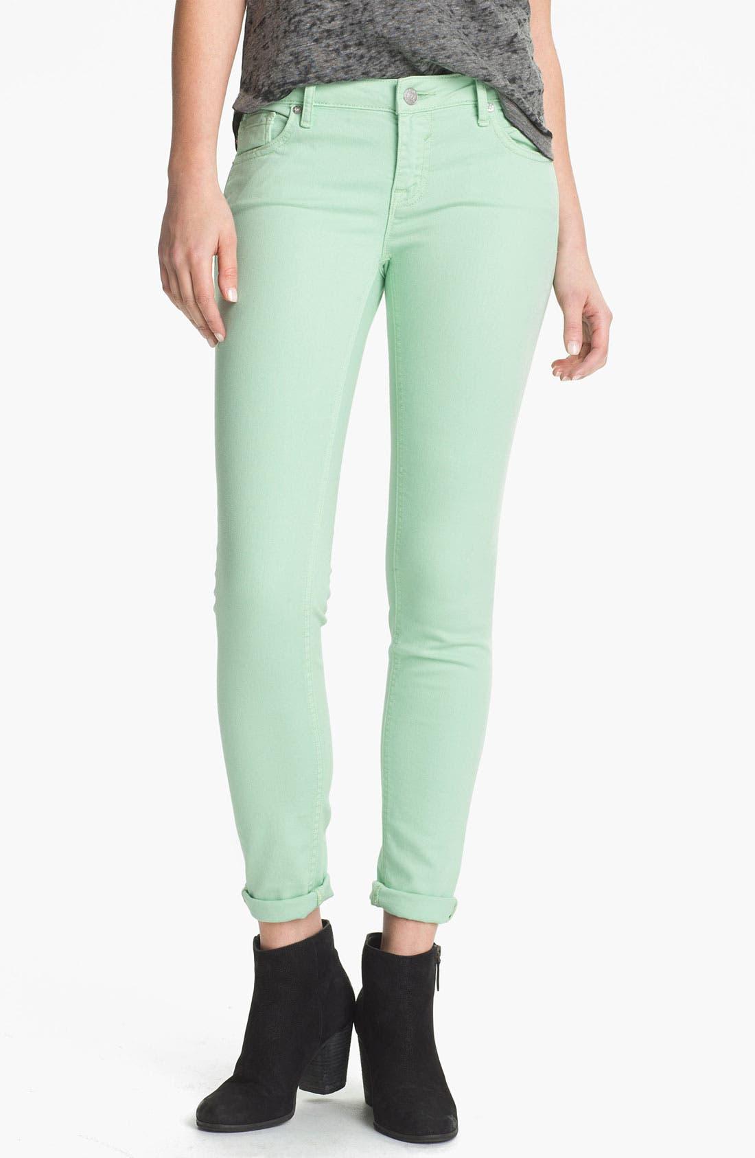 Alternate Image 2  - Vigoss Colored Skinny Jeans (Juniors)