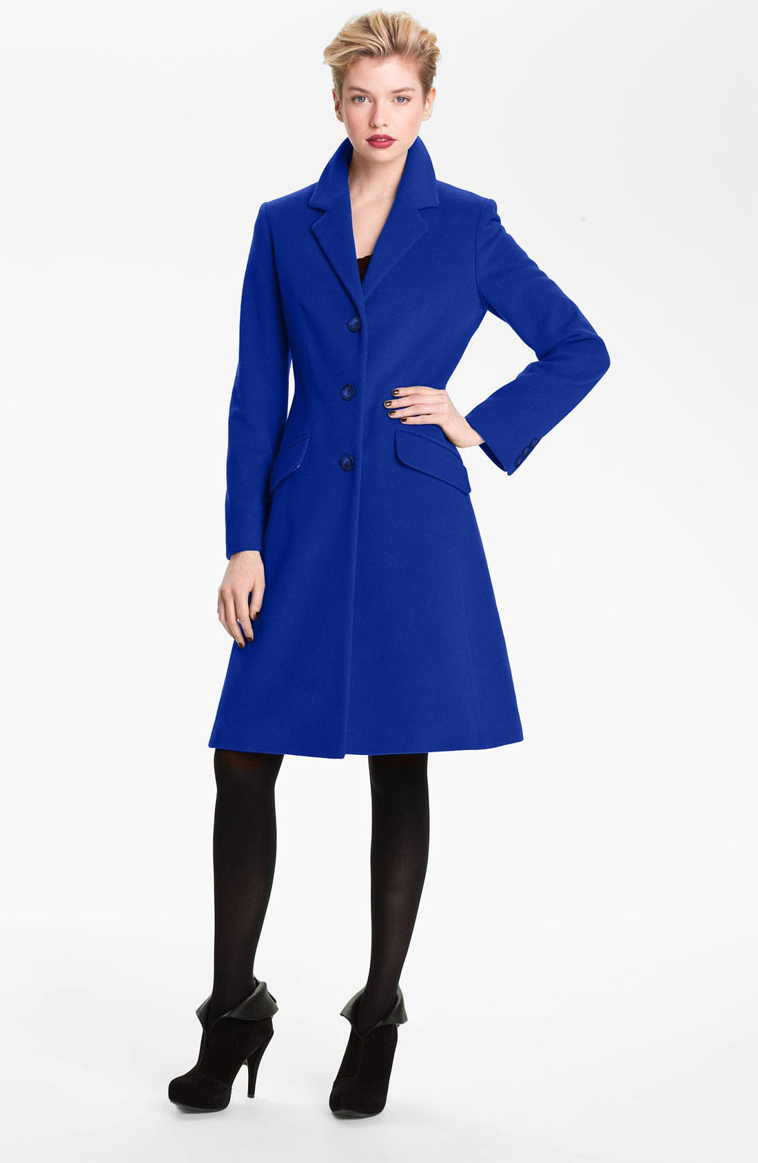 Alternate Image 1 Selected - Helene Berman Single Breasted Reefer Coat