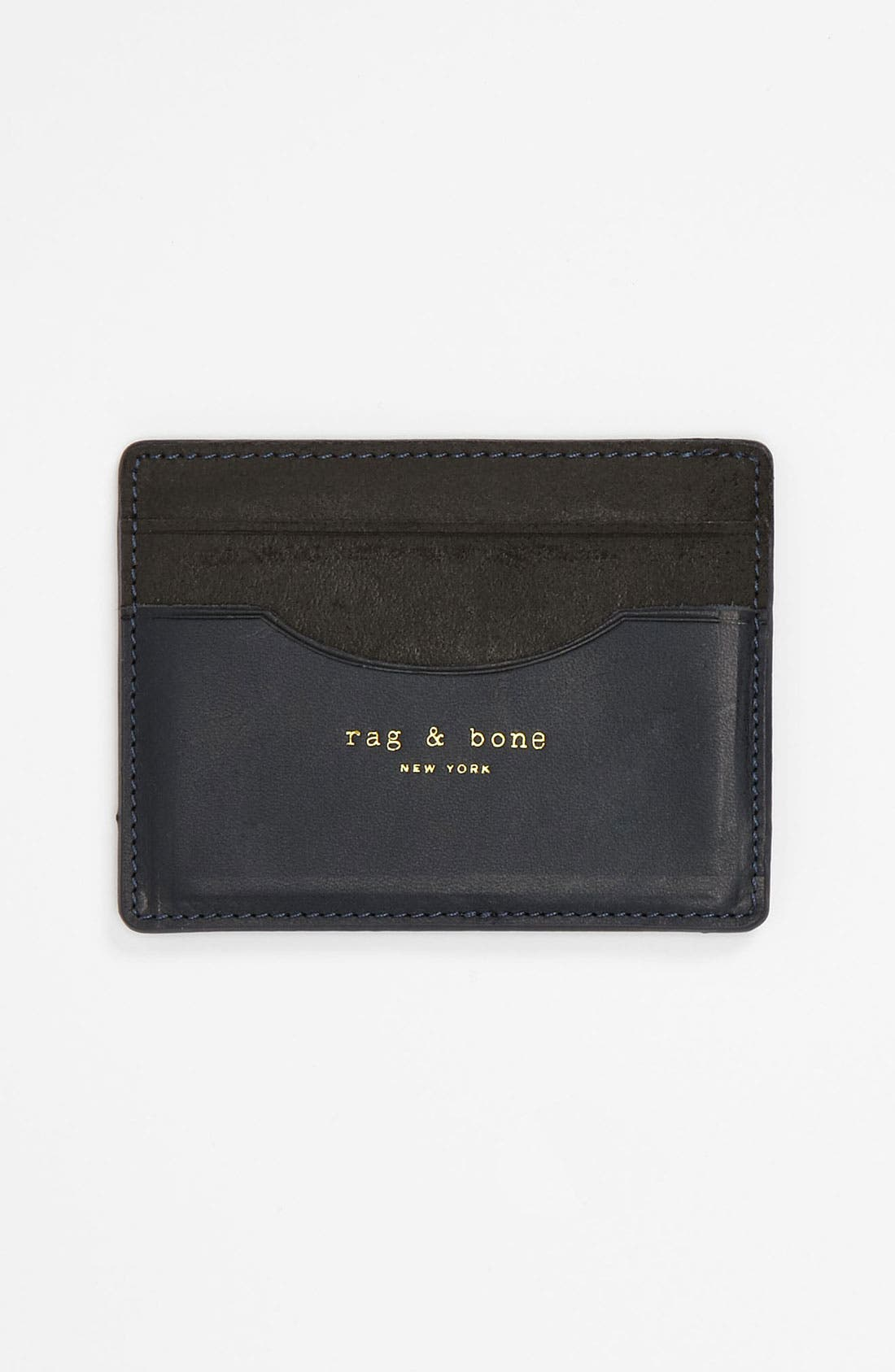 Alternate Image 1 Selected - rag & bone Leather Card Case