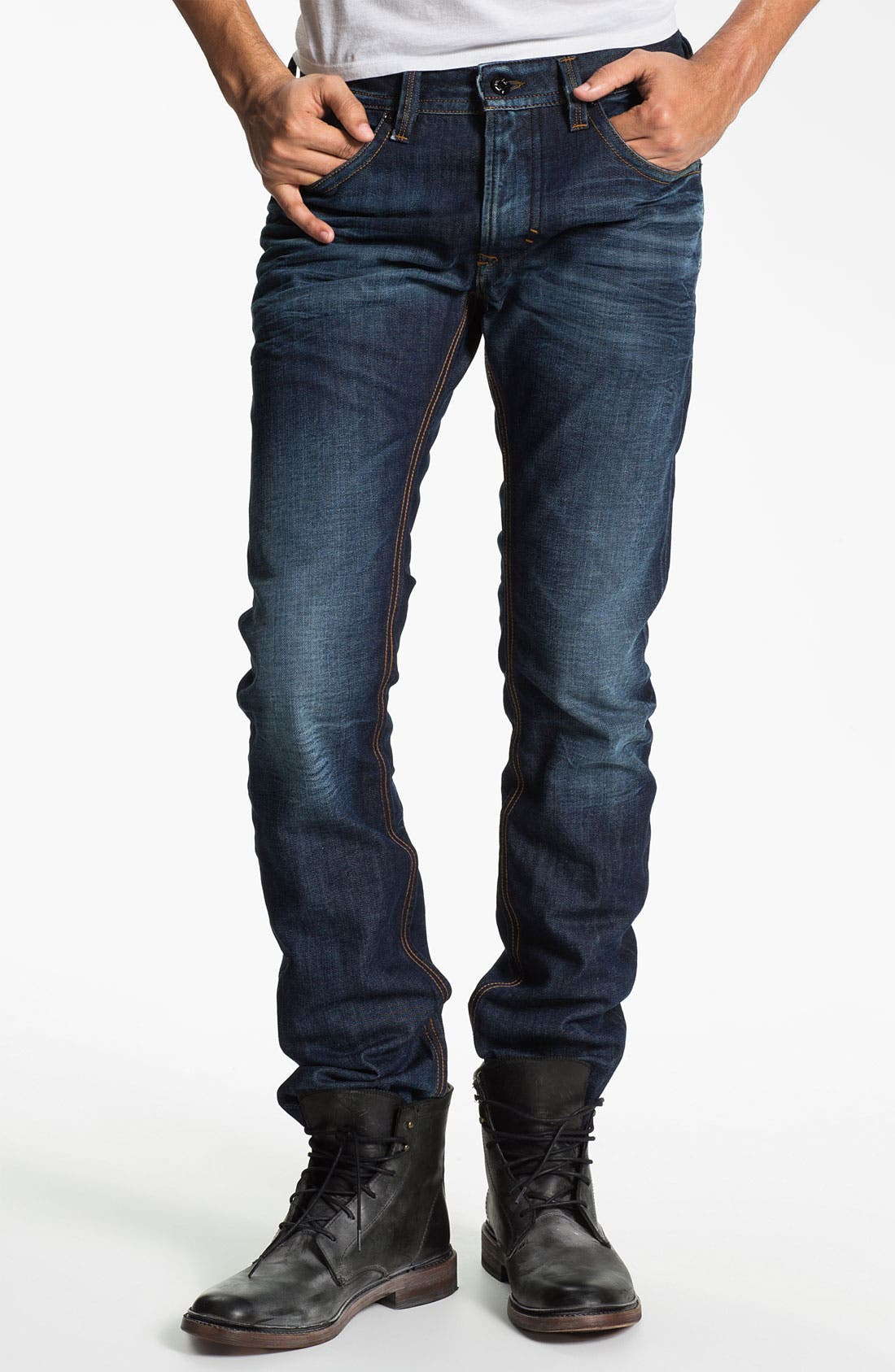 Alternate Image 2  - DIESEL® 'Thavar' Slim Skinny Leg Jeans (0806U)