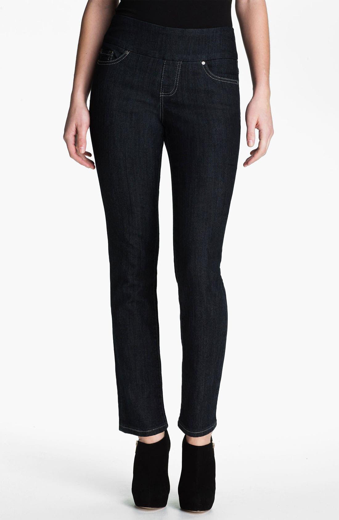 Alternate Image 1 Selected - Jag Jeans 'Holland' Straight Leg Pull-On Jeans (Petite)