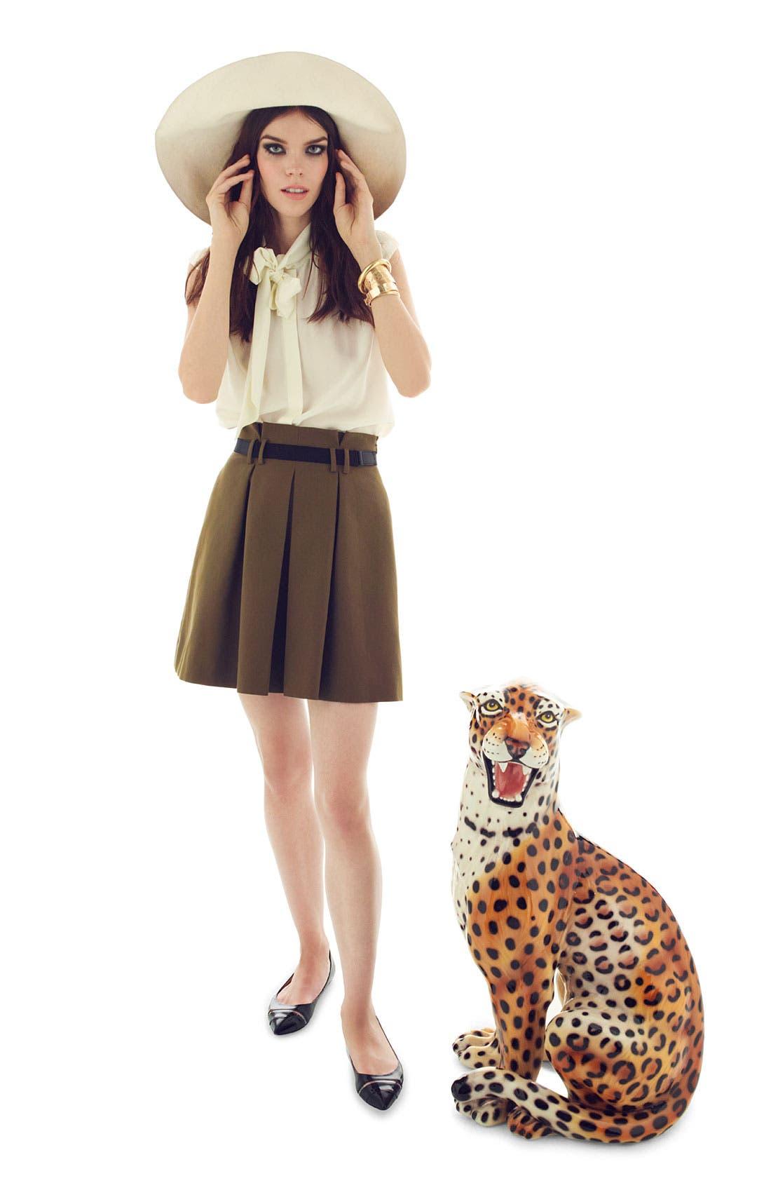 Alternate Image 6  - Miss Wu Tie Neck Crêpe de Chine Blouse (Nordstrom Exclusive)