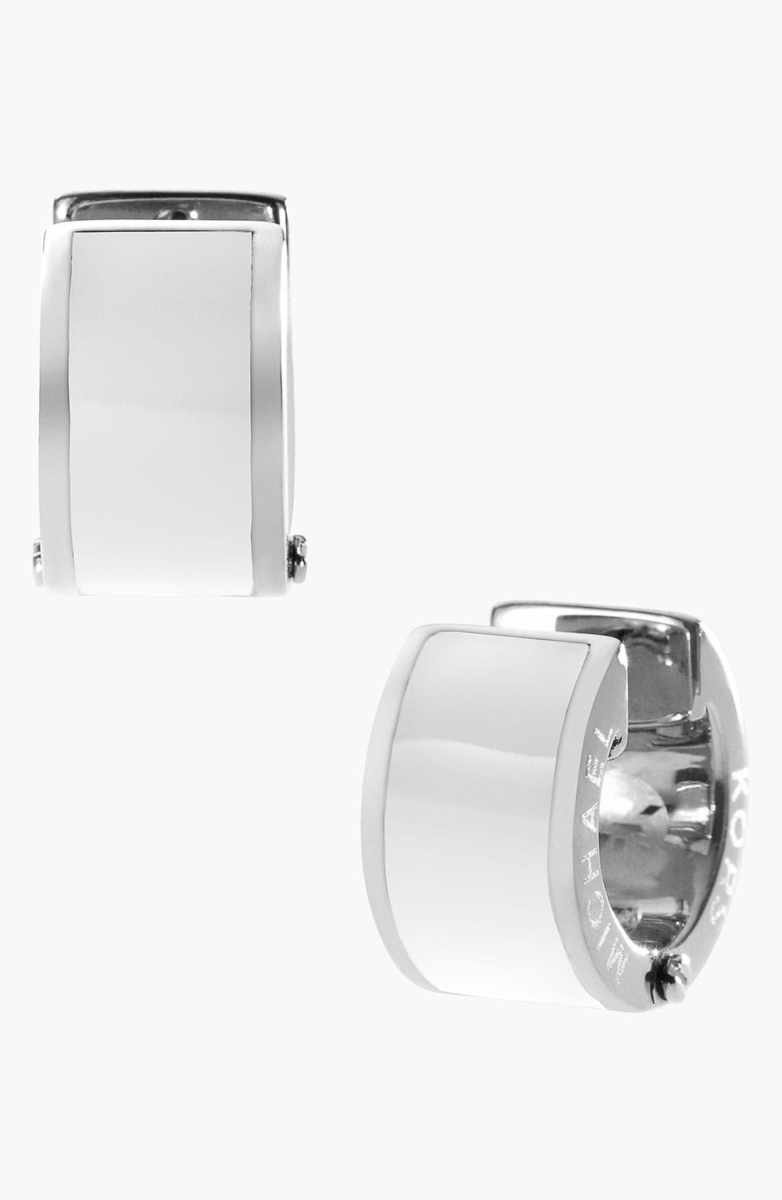 Alternate Image 1 Selected - Michael Kors Hoop Earrings
