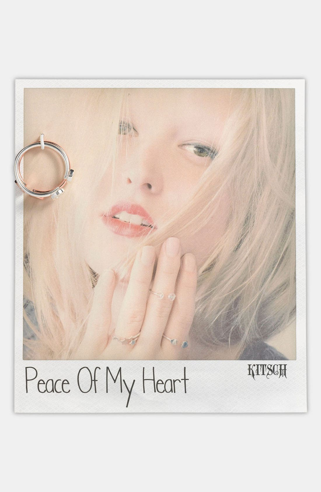 Alternate Image 1 Selected - Kitsch 'Peace of My Heart' Adjustable Rings