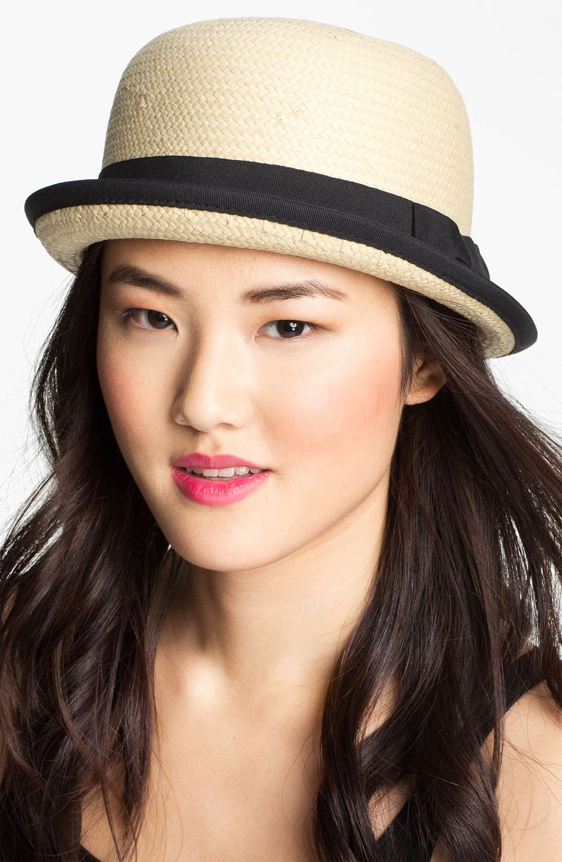 Alternate Image 1 Selected - Tarnish Up Brim Woven Cloche