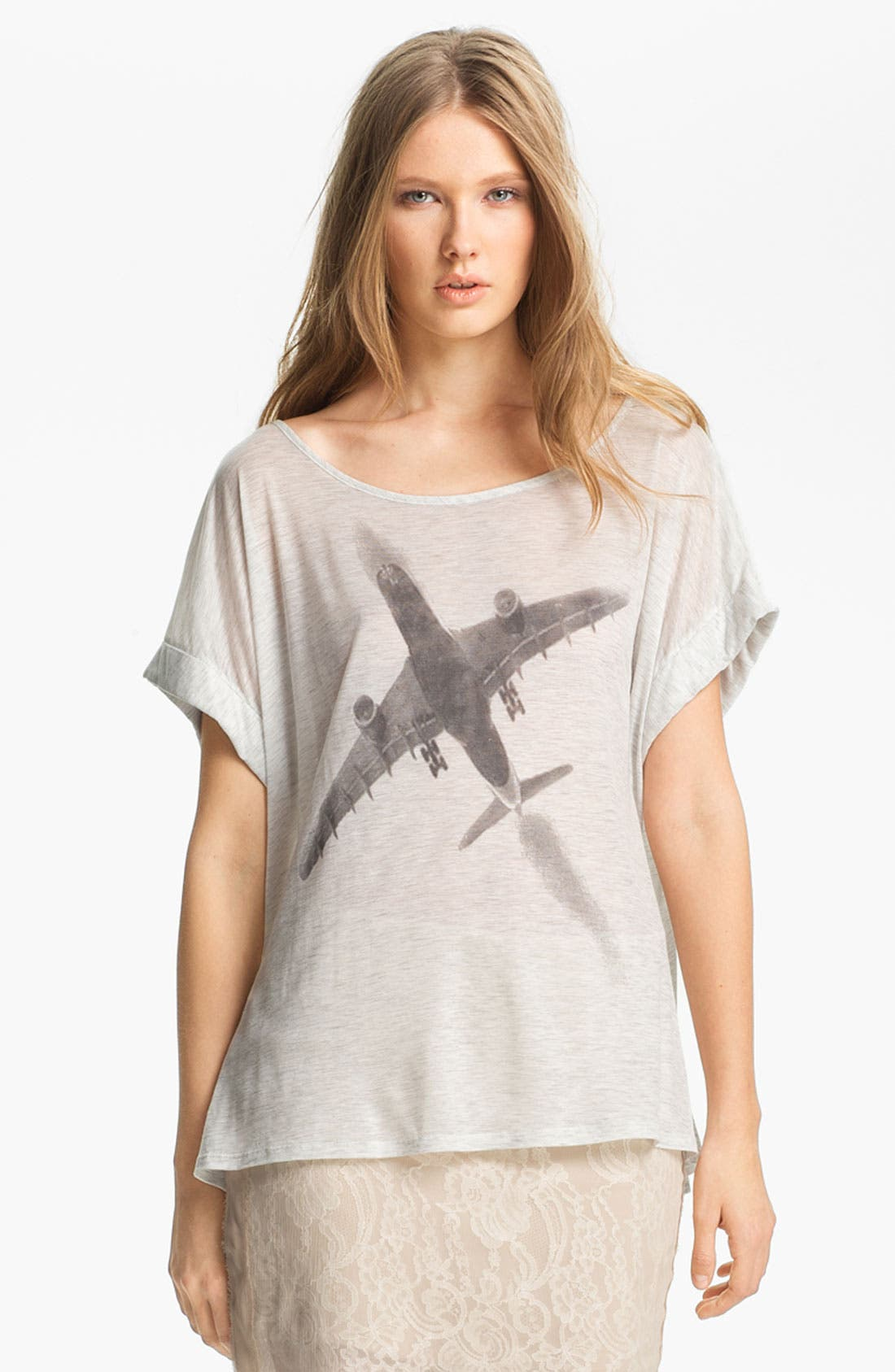 Alternate Image 1 Selected - Haute Hippie 'Fly Away' Jersey Tee