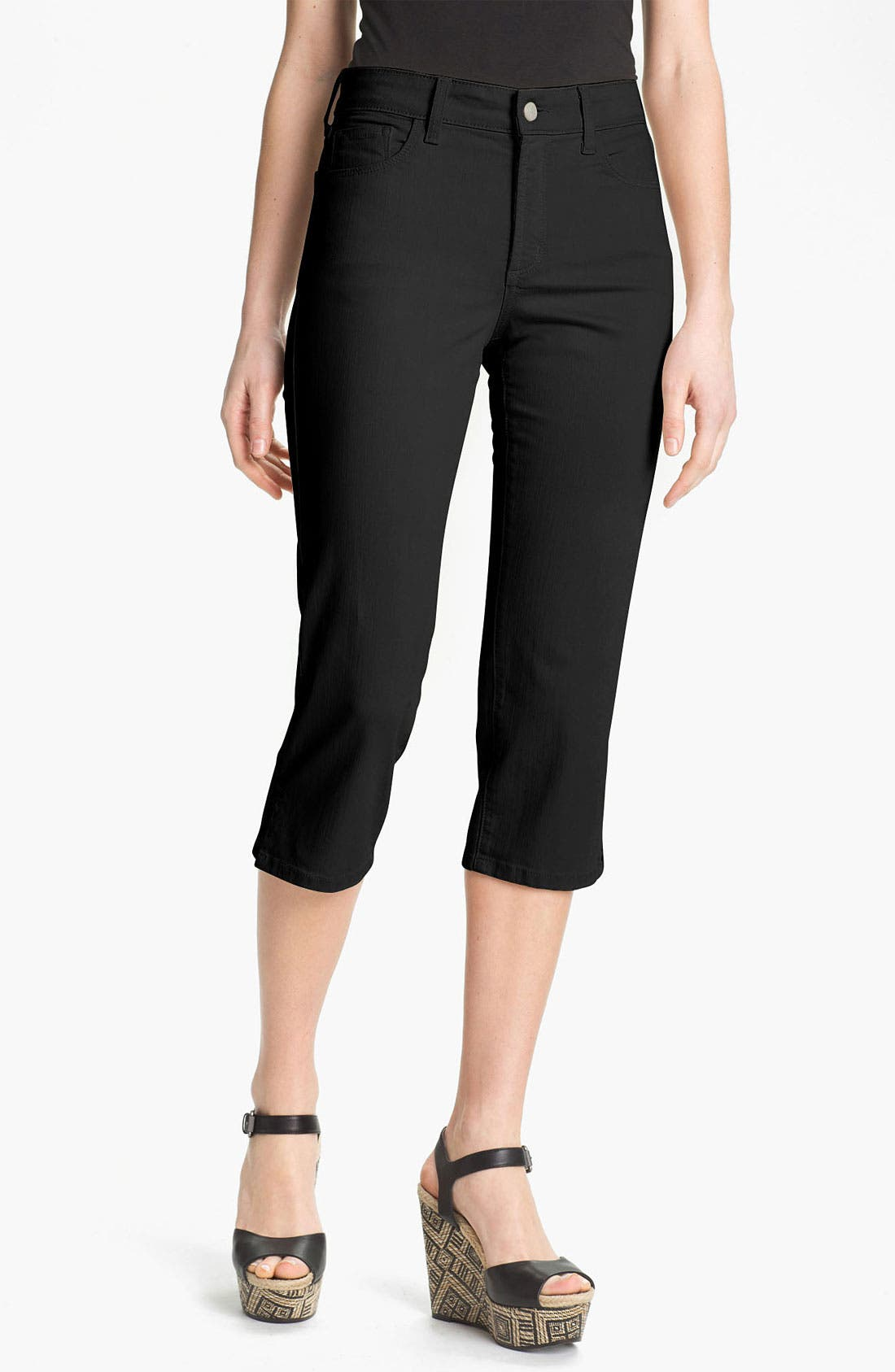 Alternate Image 1 Selected - NYDJ 'Nanette' Crop Stretch Jeans (Petite)
