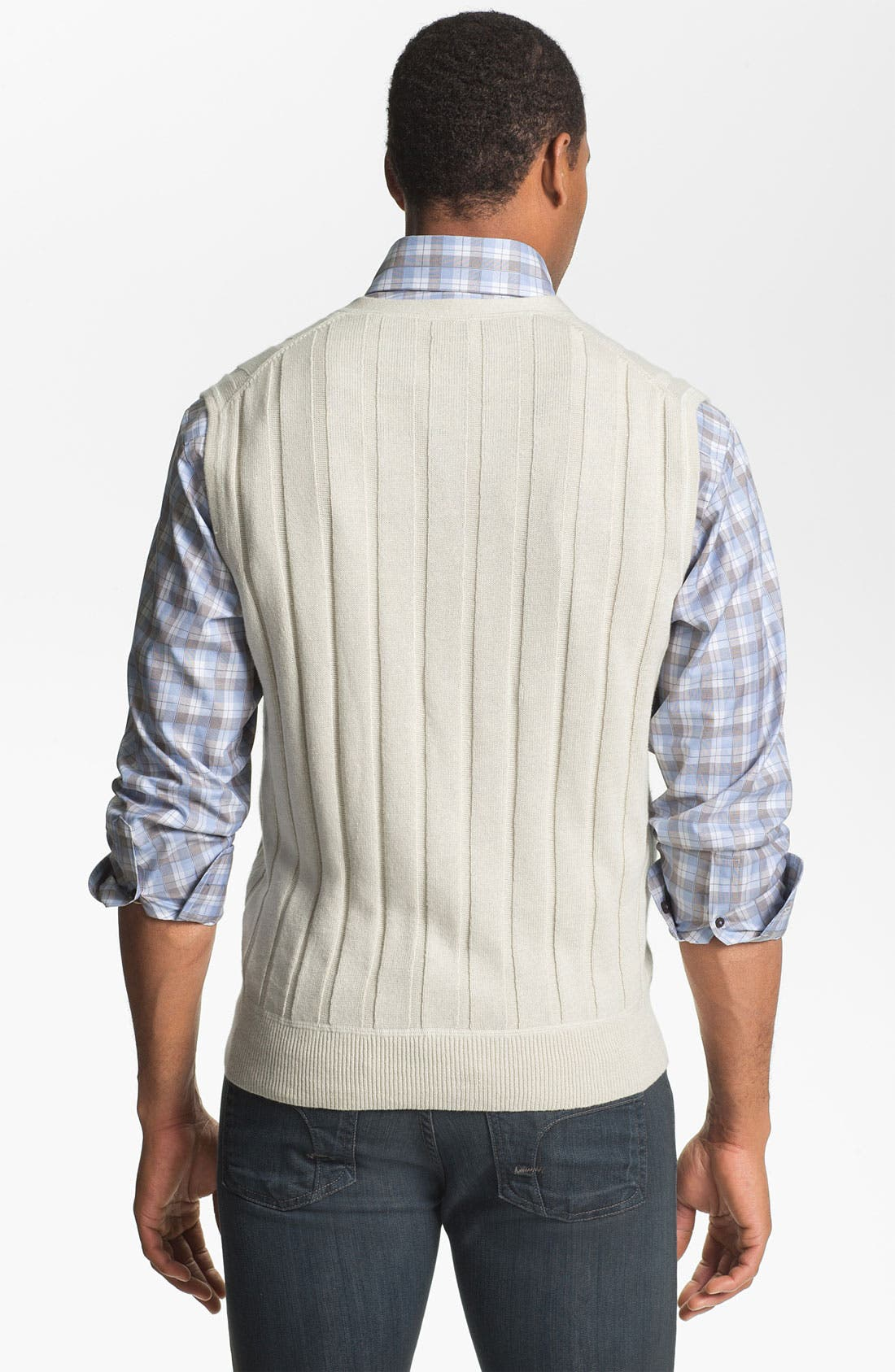 Alternate Image 2  - Robert Talbott Linen & Cotton Sweater Vest