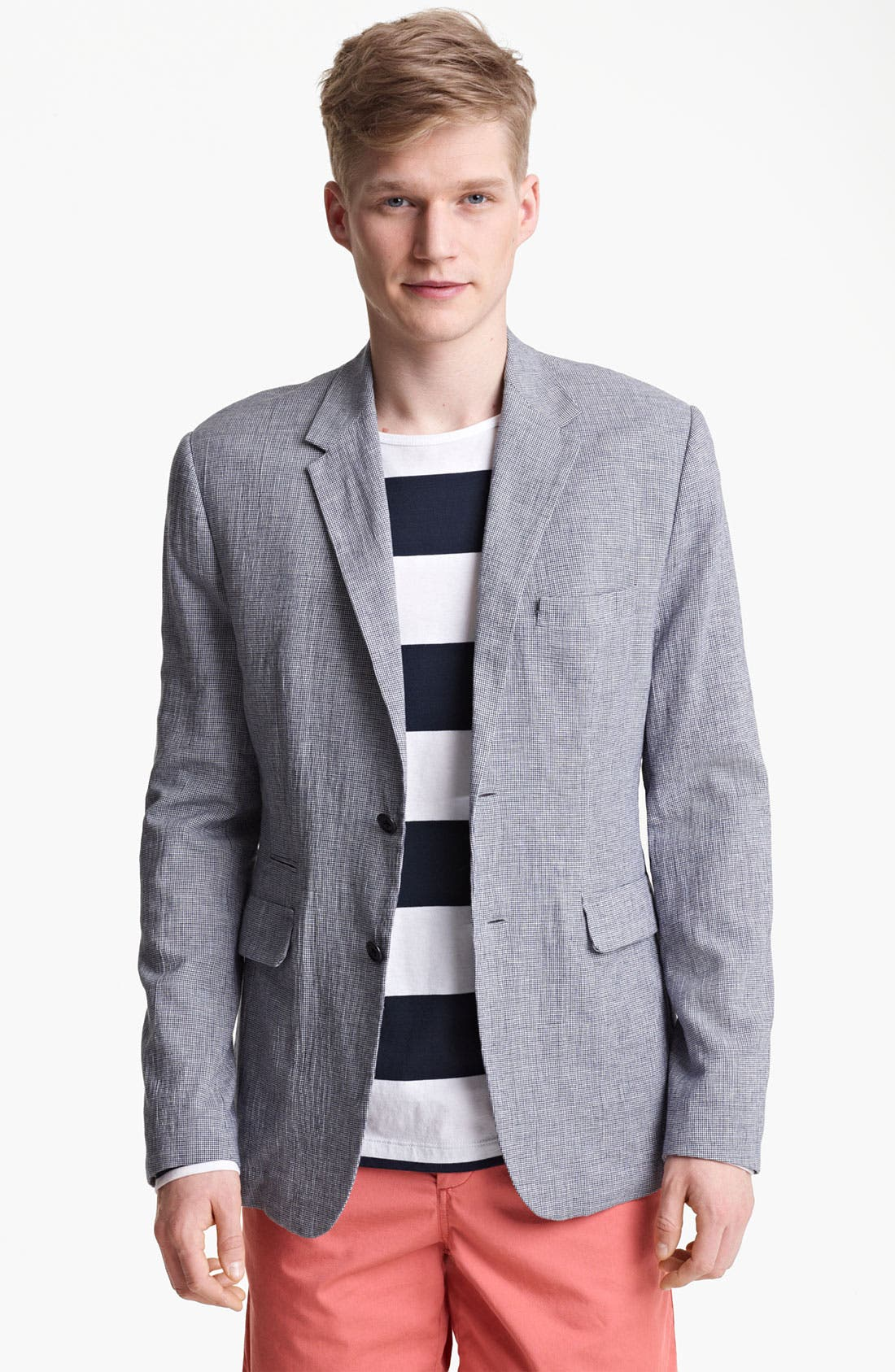 Alternate Image 1 Selected - Shipley & Halmos 'Park' Houndstooth Cotton Blazer