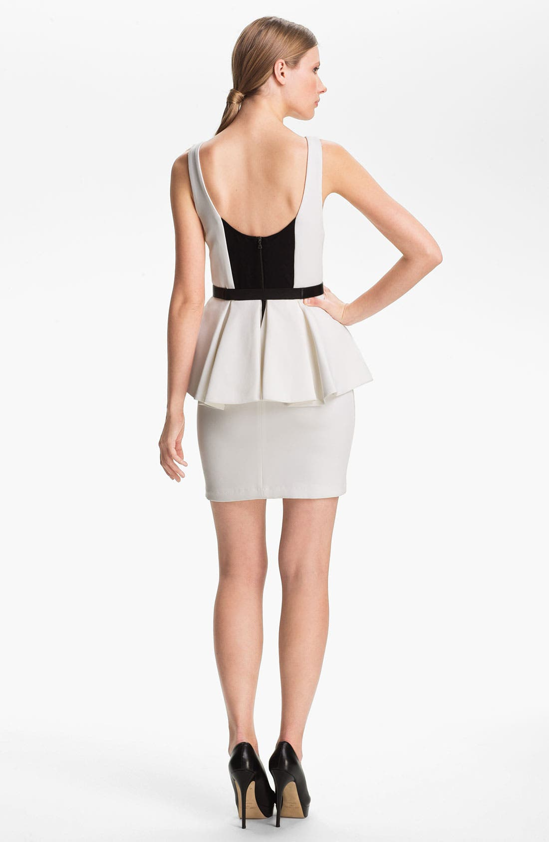 Alternate Image 2  - Alice + Olivia Belted Peplum Minidress