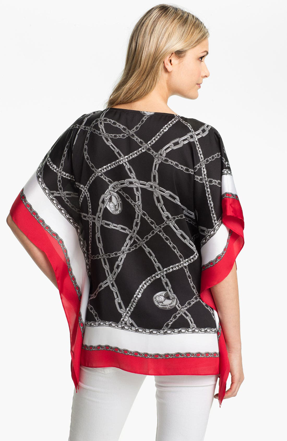 Alternate Image 2  - MICHAEL Michael Kors 'Red London' Kimono Tunic